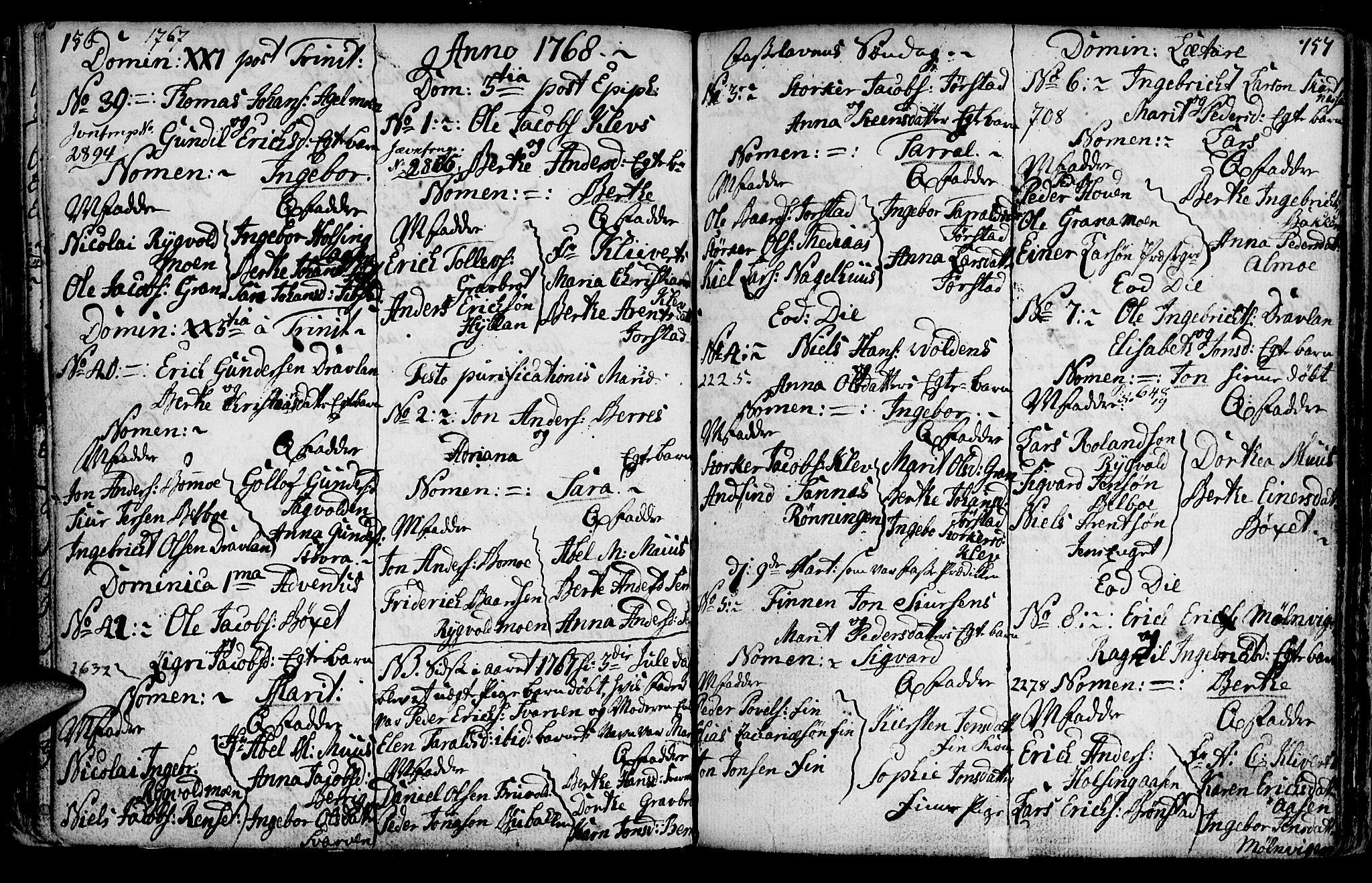 SAT, Ministerialprotokoller, klokkerbøker og fødselsregistre - Nord-Trøndelag, 749/L0467: Ministerialbok nr. 749A01, 1733-1787, s. 156-157