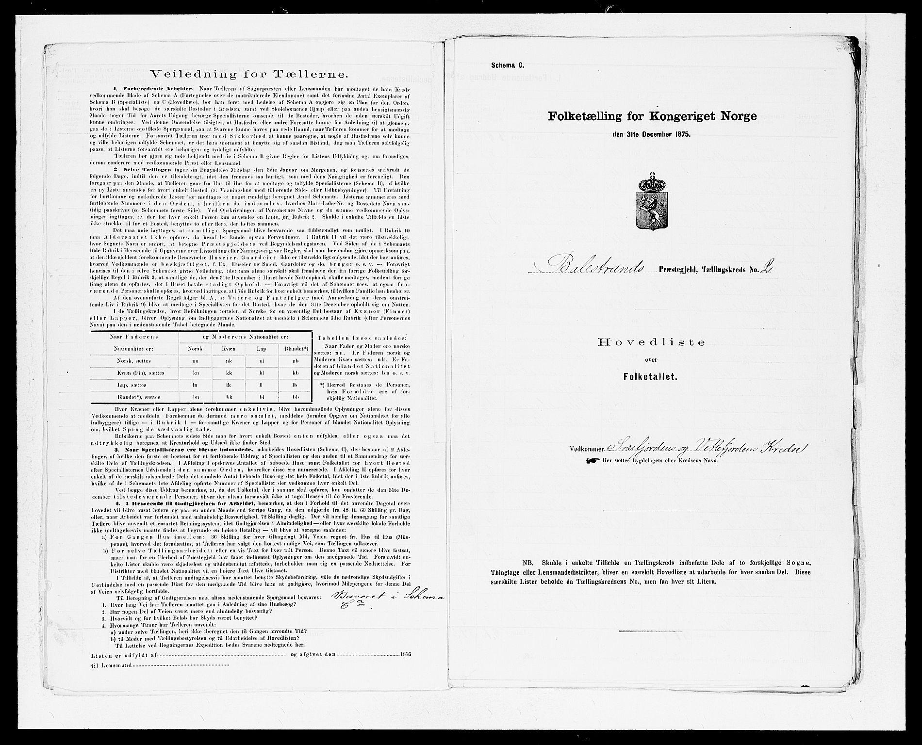 SAB, Folketelling 1875 for 1418P Balestrand prestegjeld, 1875, s. 6