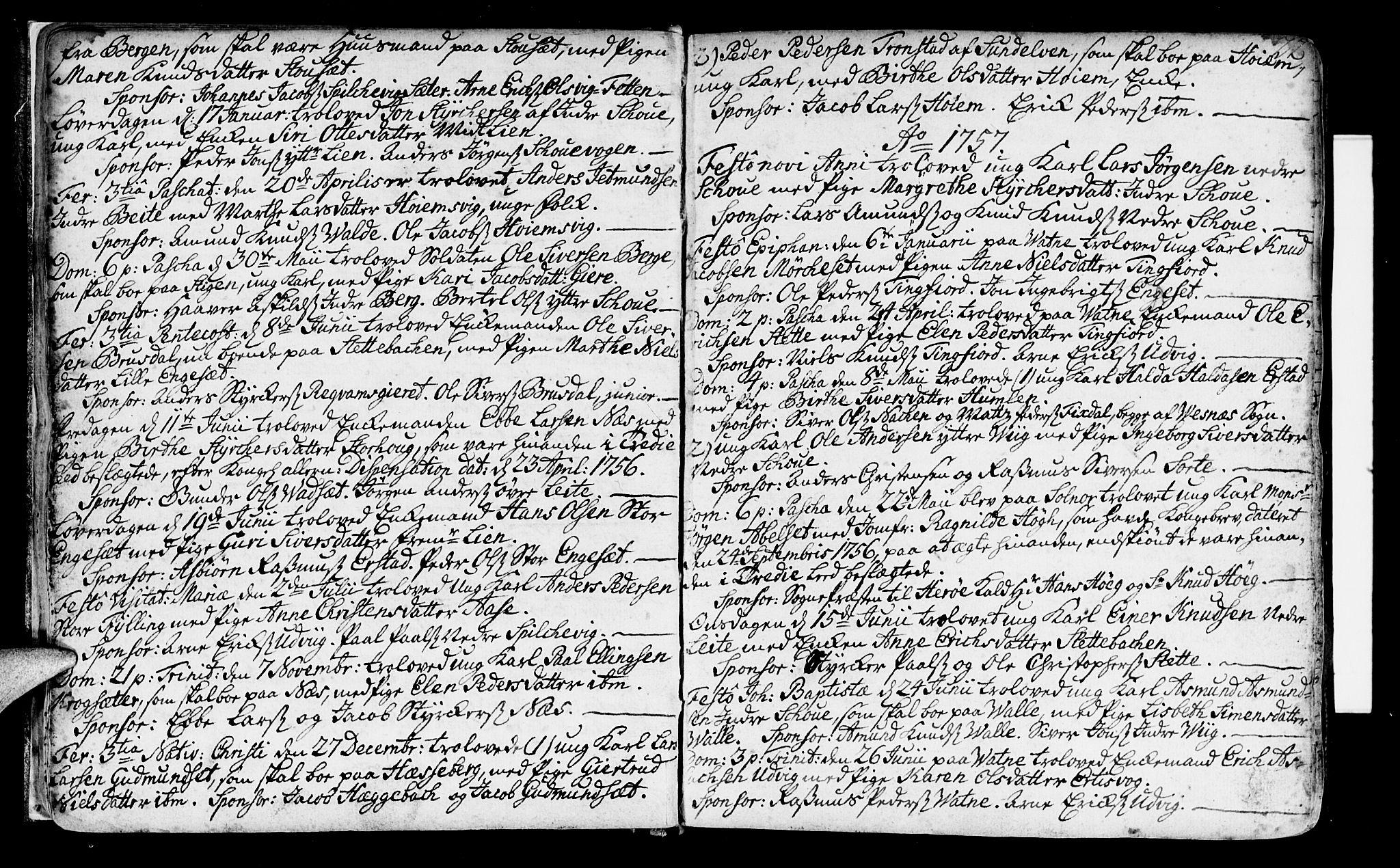 SAT, Ministerialprotokoller, klokkerbøker og fødselsregistre - Møre og Romsdal, 524/L0349: Ministerialbok nr. 524A01, 1698-1779, s. 22