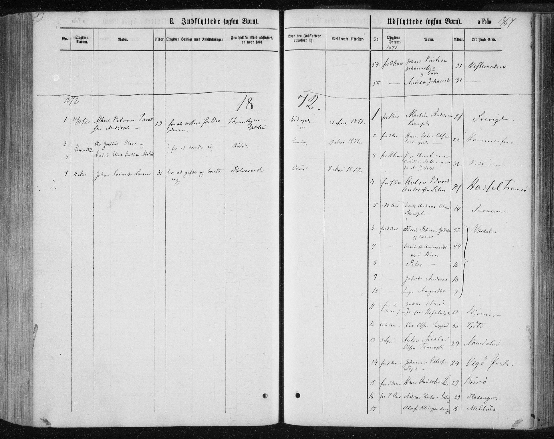 SAT, Ministerialprotokoller, klokkerbøker og fødselsregistre - Nord-Trøndelag, 735/L0345: Ministerialbok nr. 735A08 /1, 1863-1872, s. 367