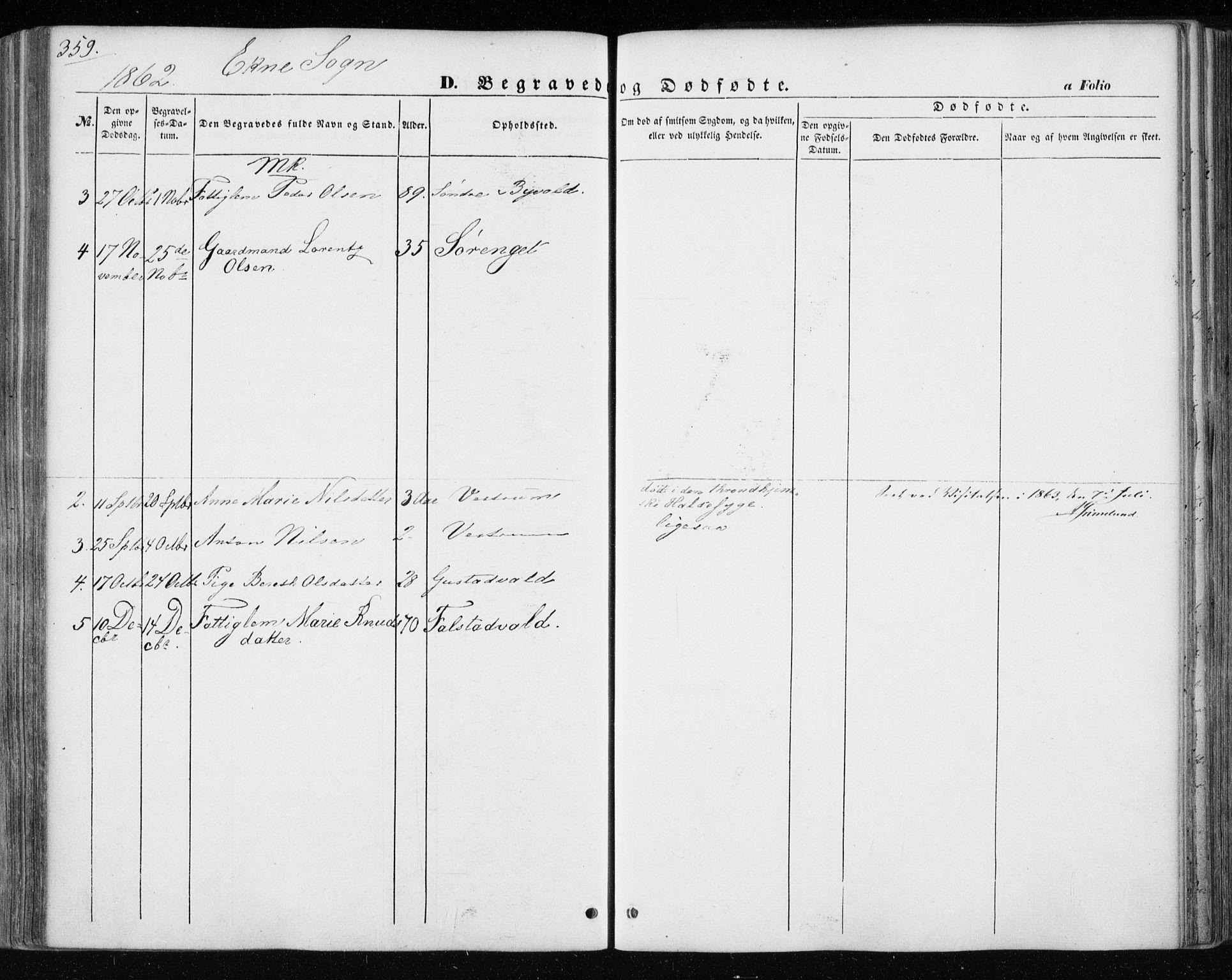 SAT, Ministerialprotokoller, klokkerbøker og fødselsregistre - Nord-Trøndelag, 717/L0154: Ministerialbok nr. 717A07 /3, 1850-1862, s. 359