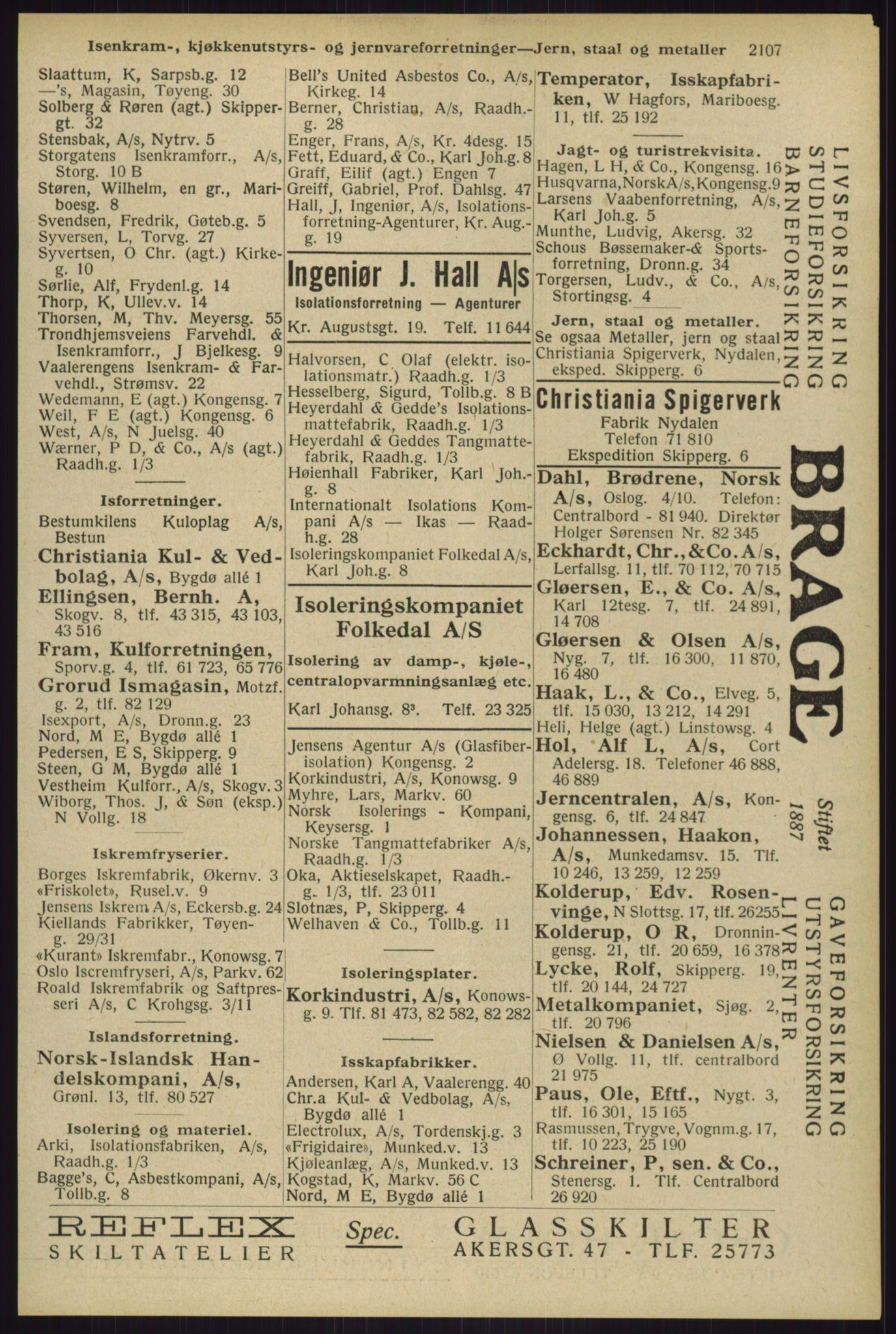 RA, Oslo adressebok (publikasjon)*, 1929, s. 2107