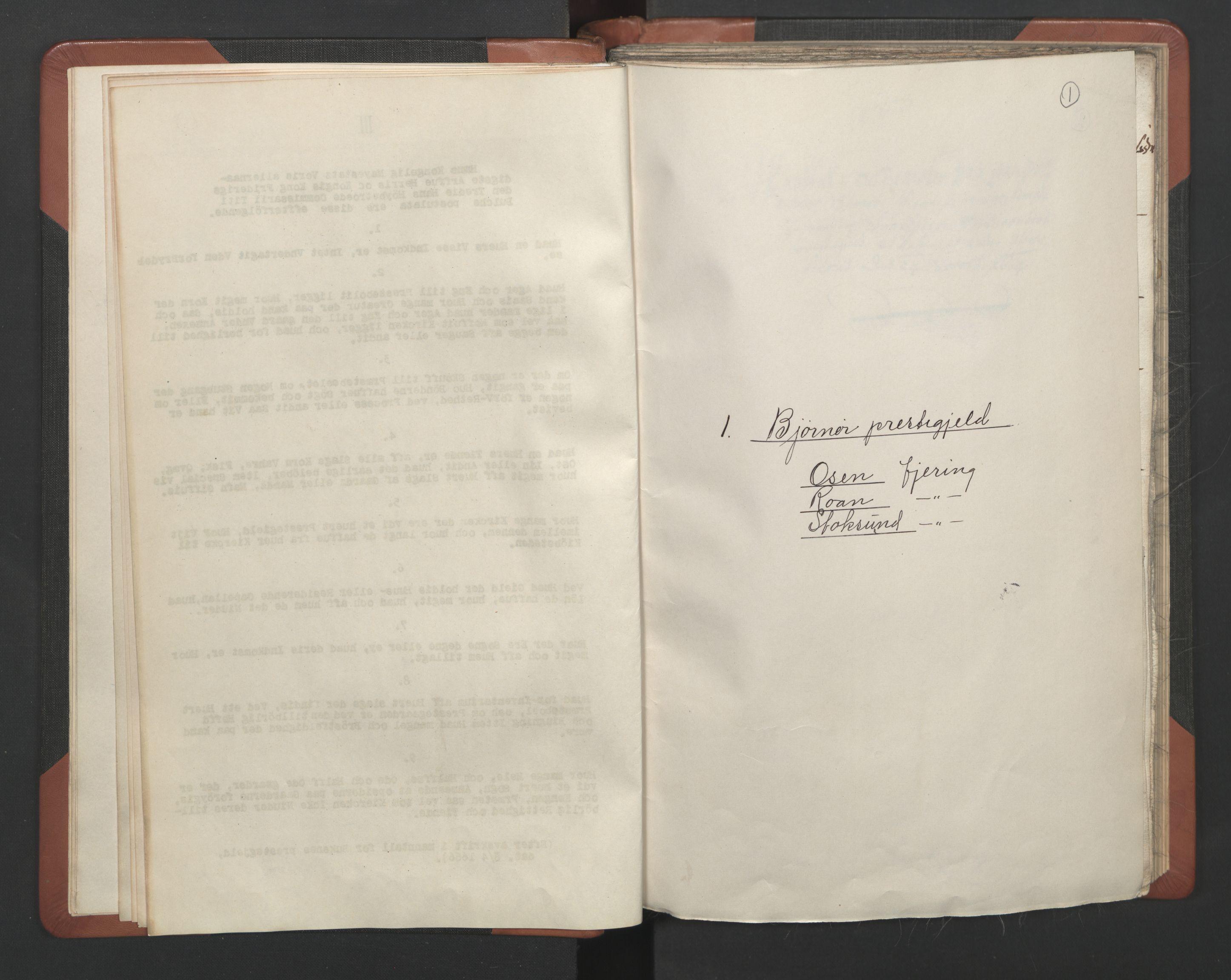 RA, Sogneprestenes manntall 1664-1666, nr. 30: Fosen prosti, 1664-1666, s. 1