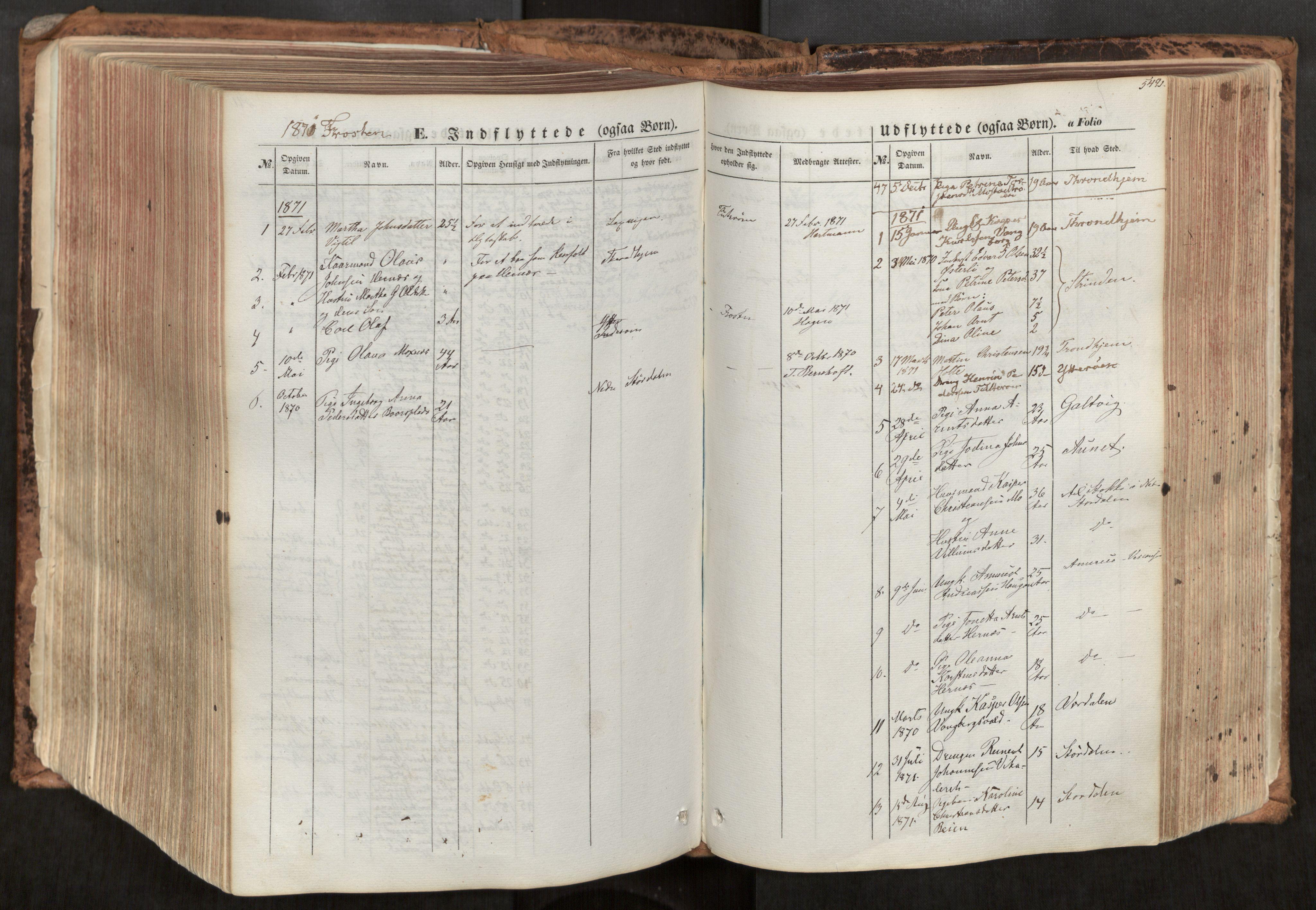 SAT, Ministerialprotokoller, klokkerbøker og fødselsregistre - Nord-Trøndelag, 713/L0116: Ministerialbok nr. 713A07, 1850-1877, s. 542