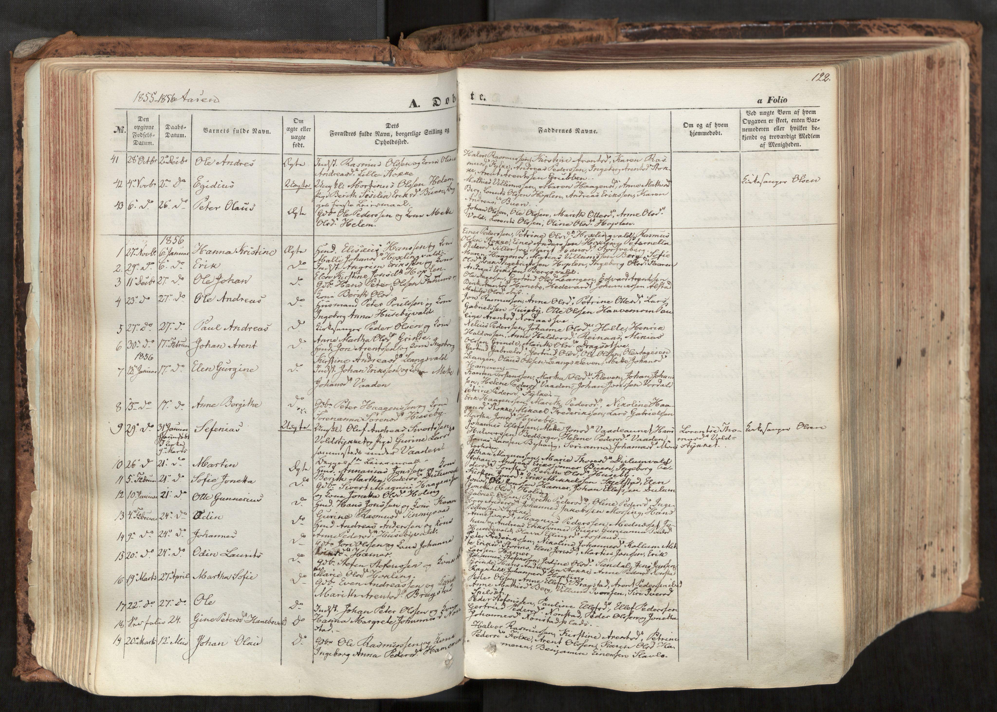 SAT, Ministerialprotokoller, klokkerbøker og fødselsregistre - Nord-Trøndelag, 713/L0116: Ministerialbok nr. 713A07, 1850-1877, s. 122