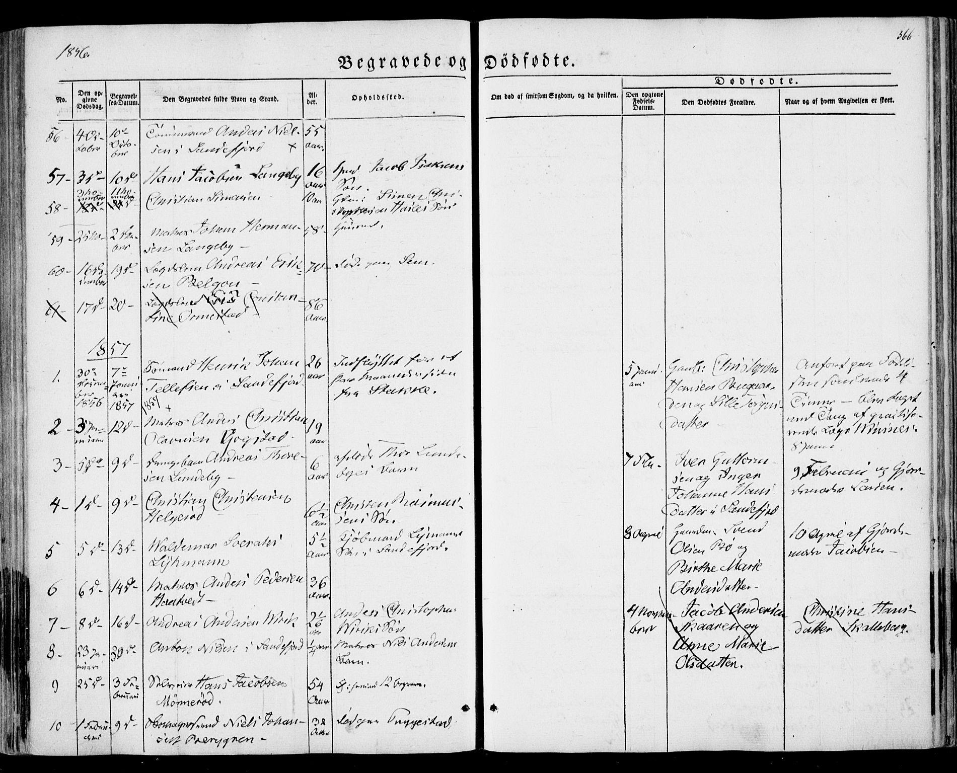 SAKO, Sandar kirkebøker, F/Fa/L0007: Ministerialbok nr. 7, 1855-1861, s. 366