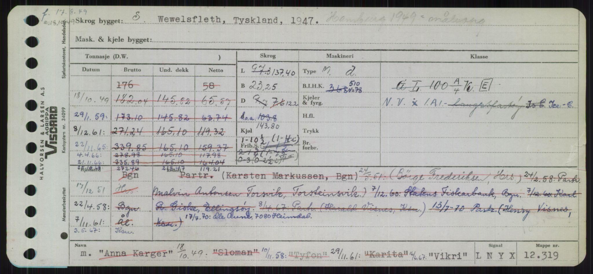 RA, Sjøfartsdirektoratet med forløpere, Skipsmålingen, H/Ha/L0006: Fartøy, Sver-Å, s. 485