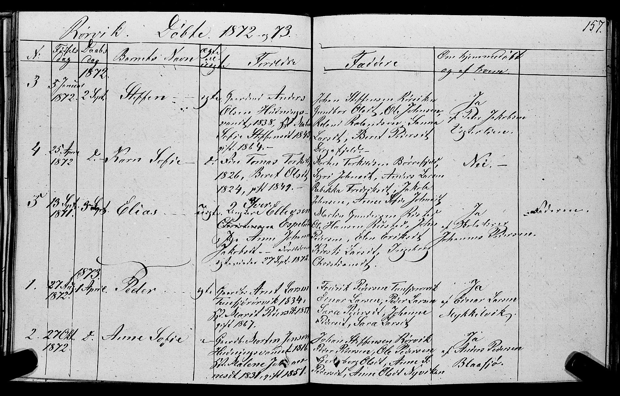 SAT, Ministerialprotokoller, klokkerbøker og fødselsregistre - Nord-Trøndelag, 762/L0538: Ministerialbok nr. 762A02 /1, 1833-1879, s. 157