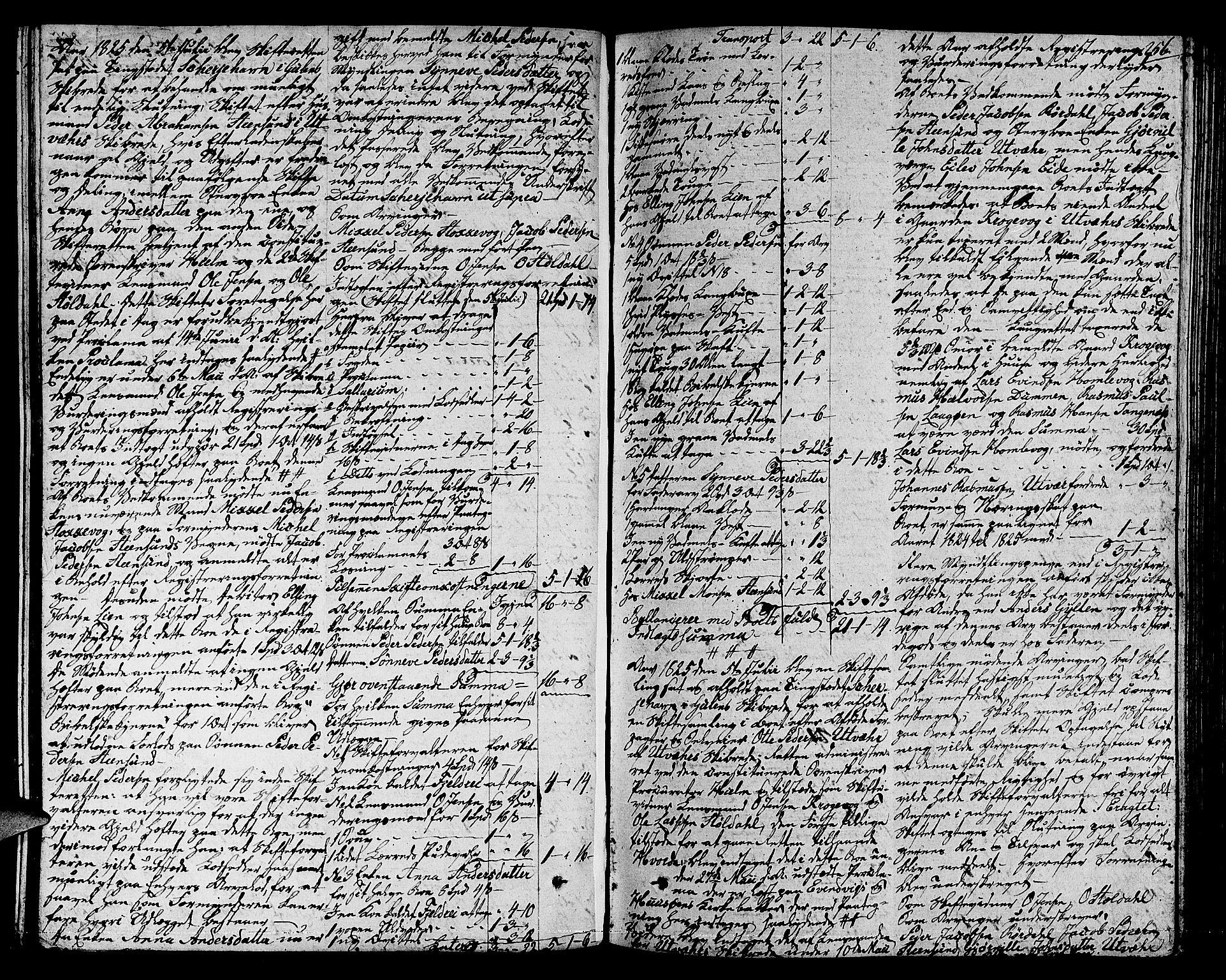 SAB, Ytre Sogn Tingrett, H/Ha/L0017: Skifteprotokoll, 1813-1828, s. 255b-256a