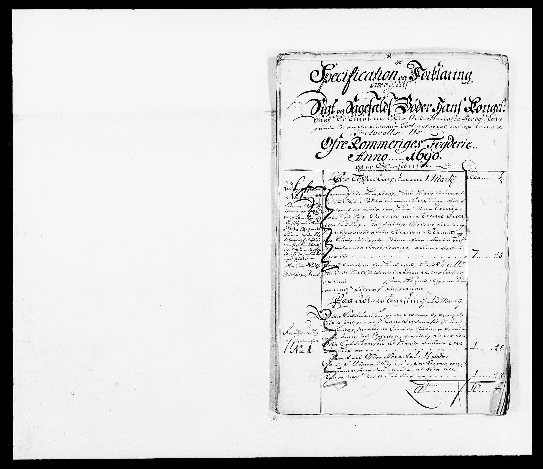 RA, Rentekammeret inntil 1814, Reviderte regnskaper, Fogderegnskap, R12/L0702: Fogderegnskap Øvre Romerike, 1690, s. 51
