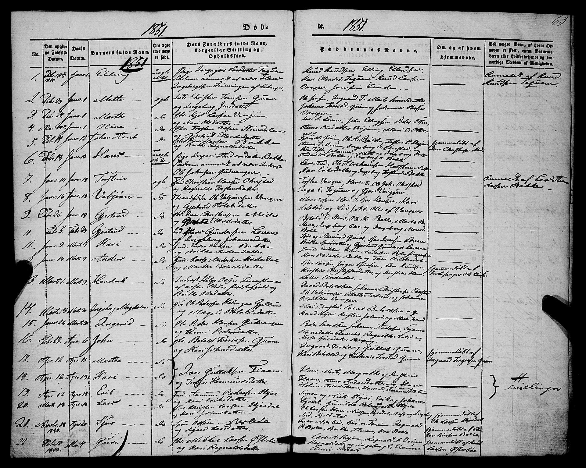 SAB, Aurland Sokneprestembete*, Ministerialbok nr. A 7, 1842-1853, s. 63