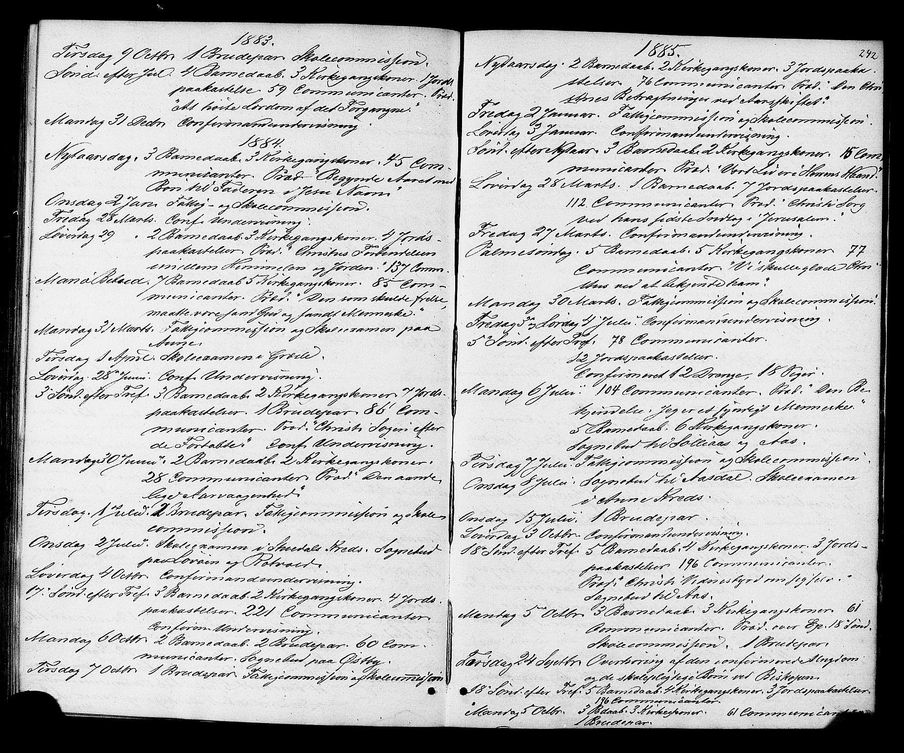 SAT, Ministerialprotokoller, klokkerbøker og fødselsregistre - Sør-Trøndelag, 698/L1163: Ministerialbok nr. 698A01, 1862-1887, s. 242