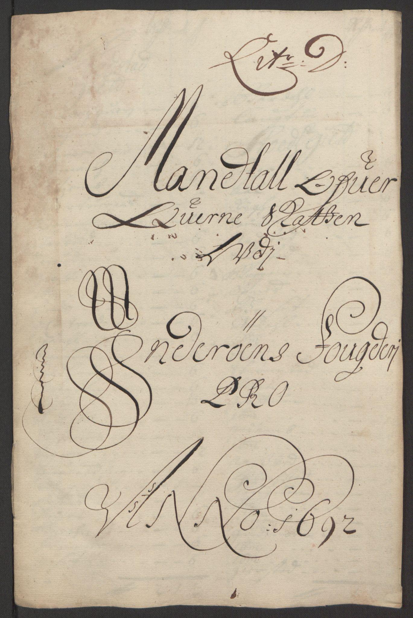 RA, Rentekammeret inntil 1814, Reviderte regnskaper, Fogderegnskap, R63/L4308: Fogderegnskap Inderøy, 1692-1694, s. 77