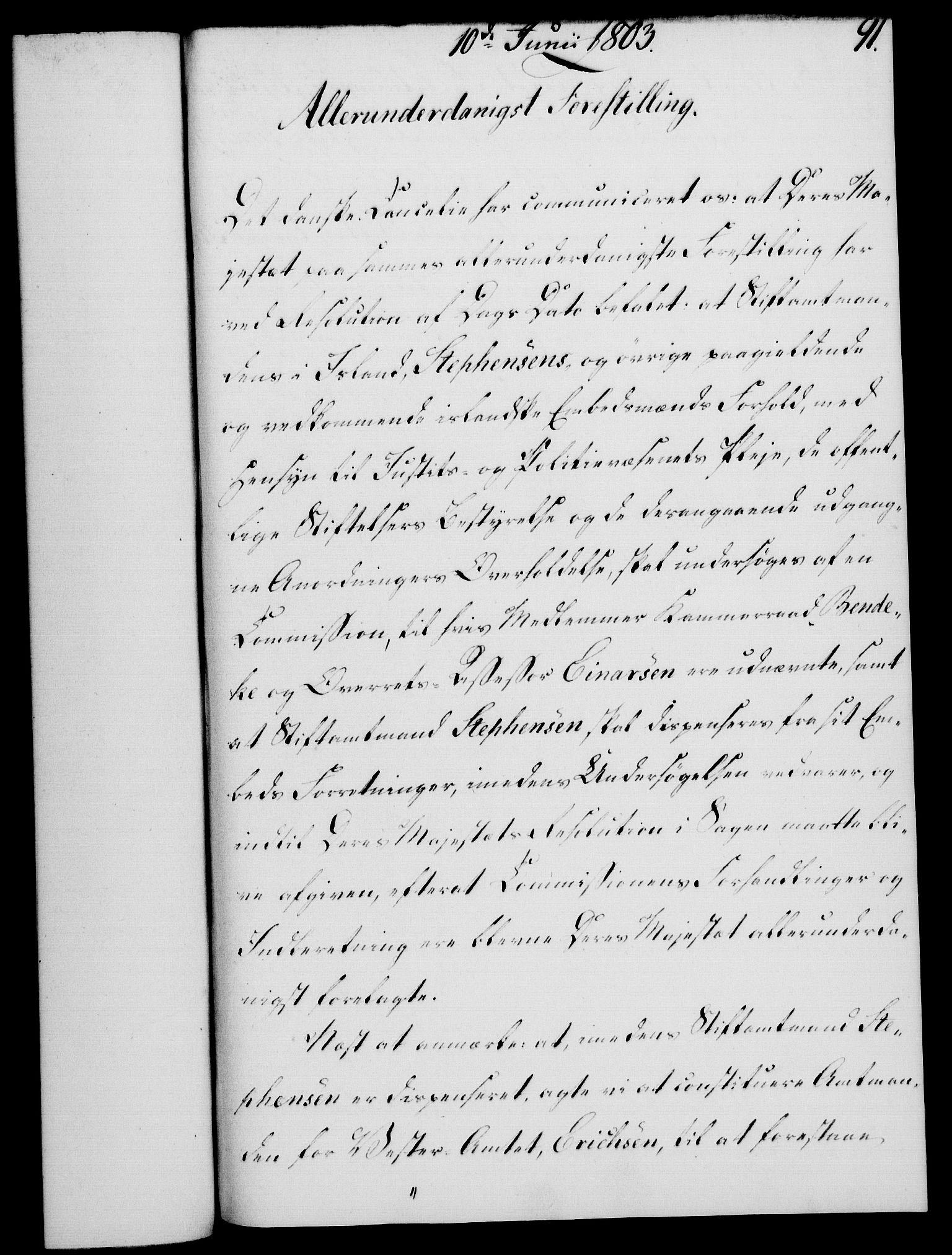 RA, Rentekammeret, Kammerkanselliet, G/Gf/Gfa/L0085: Norsk relasjons- og resolusjonsprotokoll (merket RK 52.85), 1803, s. 541
