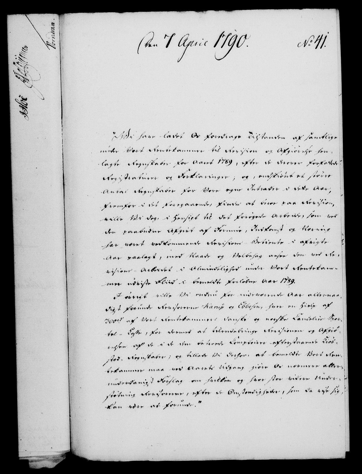 RA, Rentekammeret, Kammerkanselliet, G/Gf/Gfa/L0072: Norsk relasjons- og resolusjonsprotokoll (merket RK 52.72), 1790, s. 202