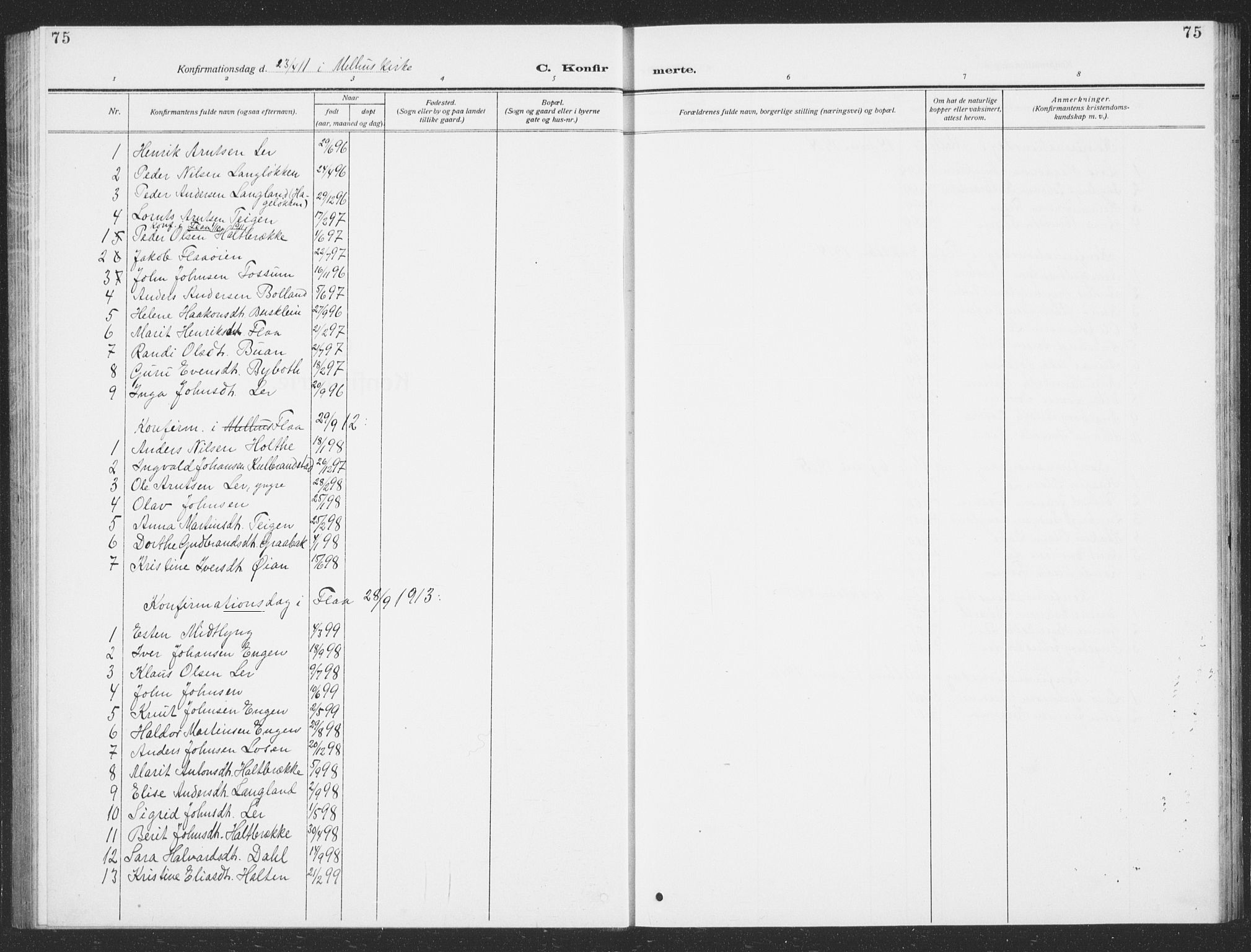 SAT, Ministerialprotokoller, klokkerbøker og fødselsregistre - Sør-Trøndelag, 693/L1124: Klokkerbok nr. 693C05, 1911-1941, s. 75