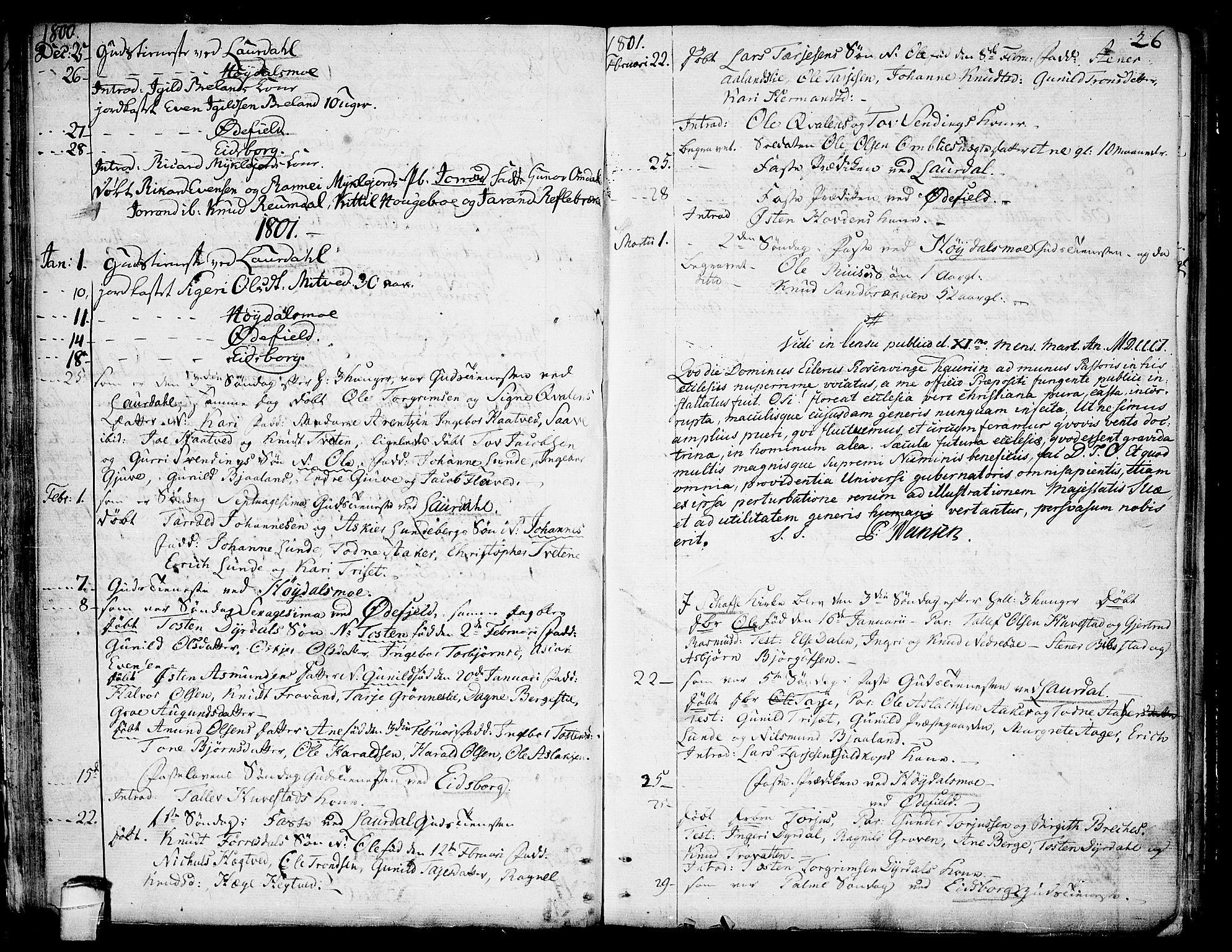 SAKO, Lårdal kirkebøker, F/Fa/L0004: Ministerialbok nr. I 4, 1790-1814, s. 26