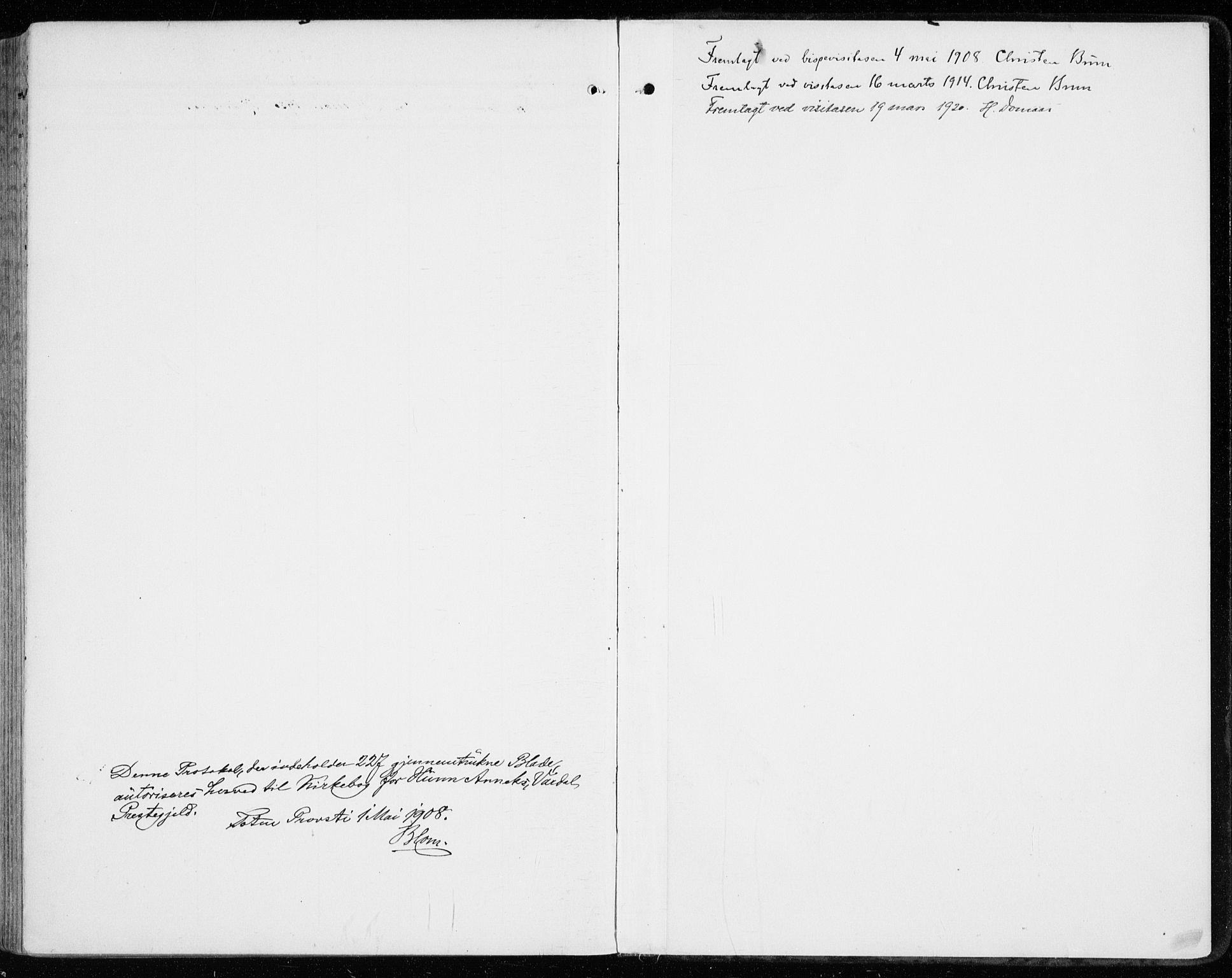 SAH, Vardal prestekontor, H/Ha/Haa/L0016: Ministerialbok nr. 16, 1904-1916