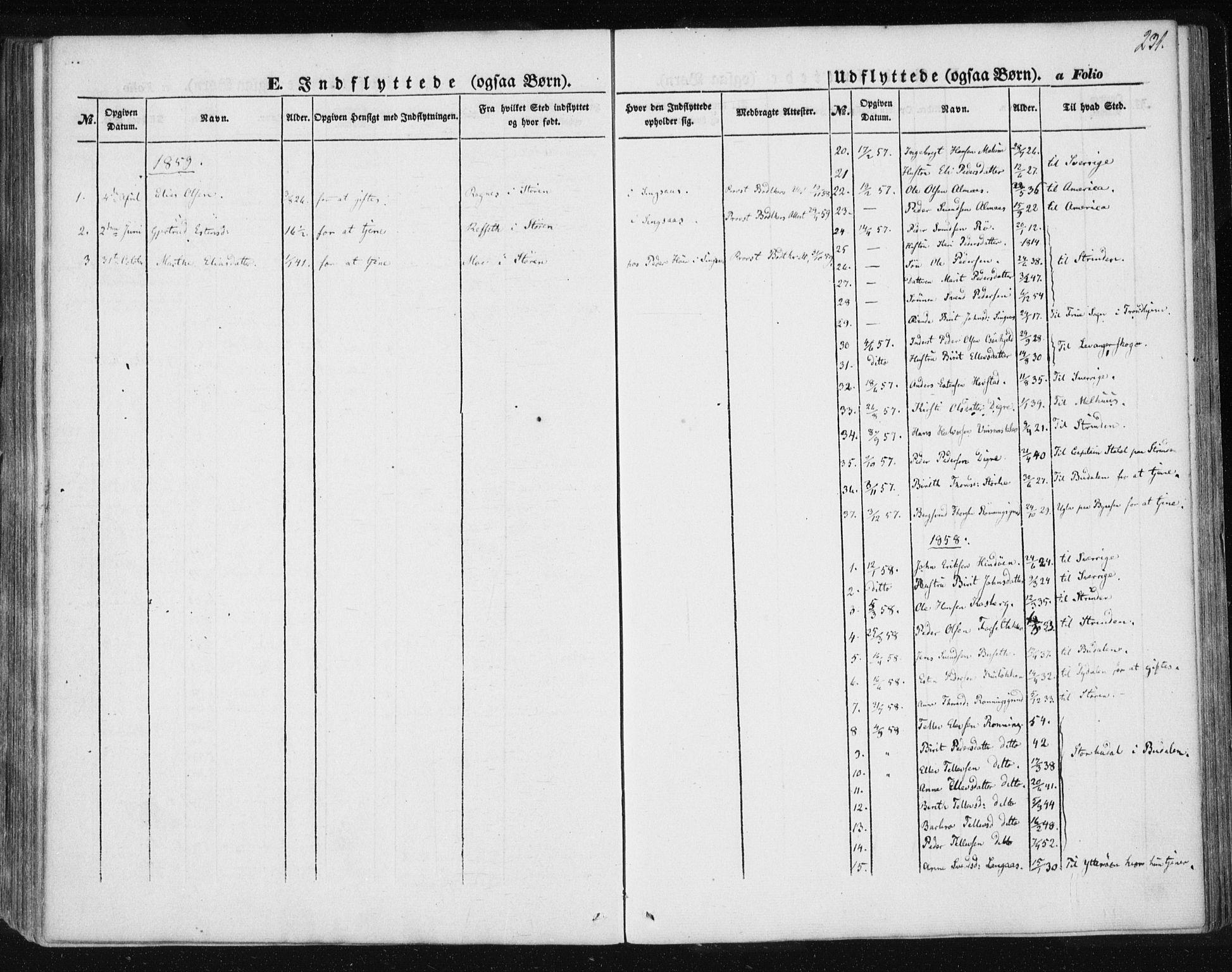 SAT, Ministerialprotokoller, klokkerbøker og fødselsregistre - Sør-Trøndelag, 685/L0964: Ministerialbok nr. 685A06 /2, 1846-1859, s. 231