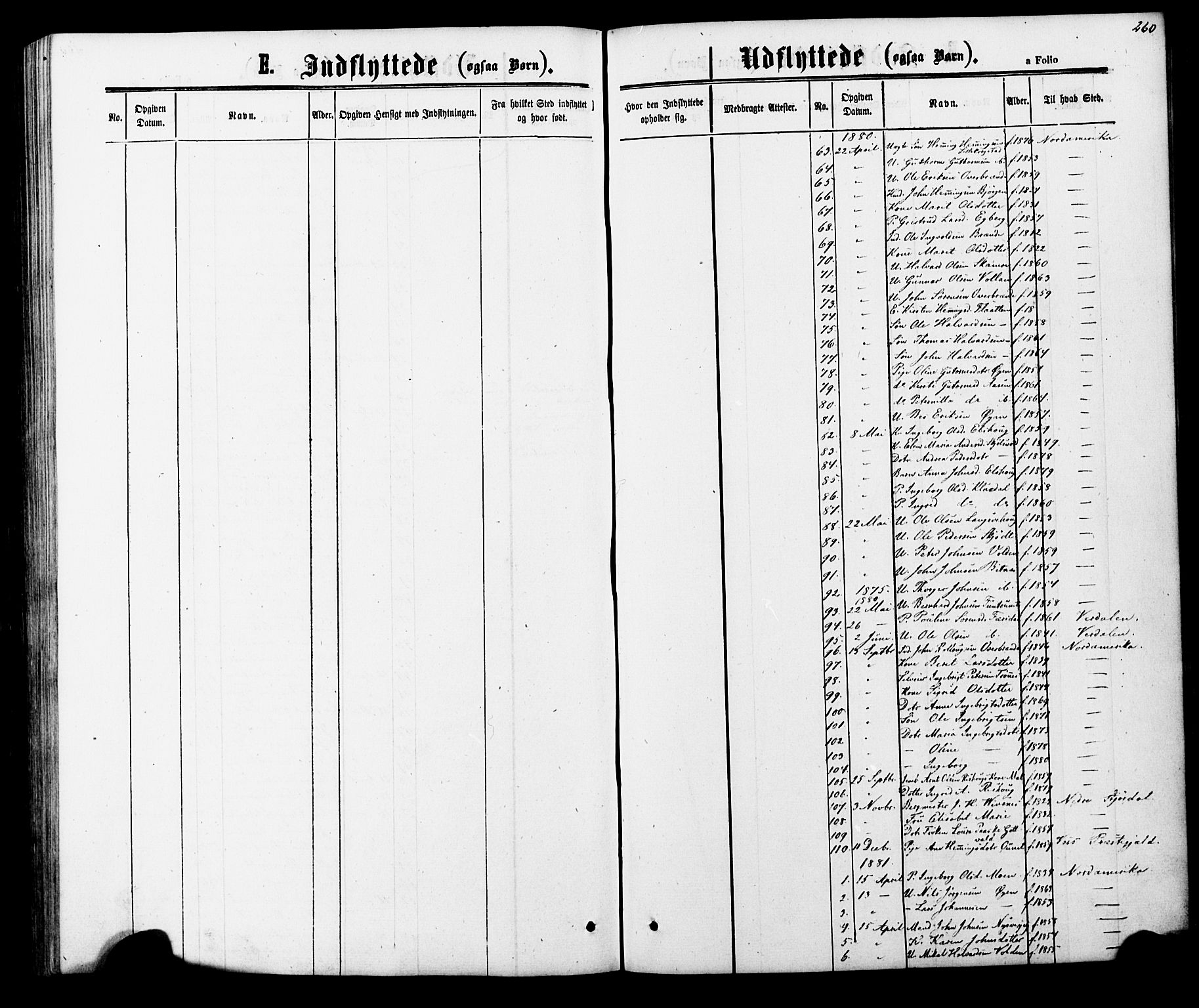SAT, Ministerialprotokoller, klokkerbøker og fødselsregistre - Nord-Trøndelag, 706/L0049: Klokkerbok nr. 706C01, 1864-1895, s. 260