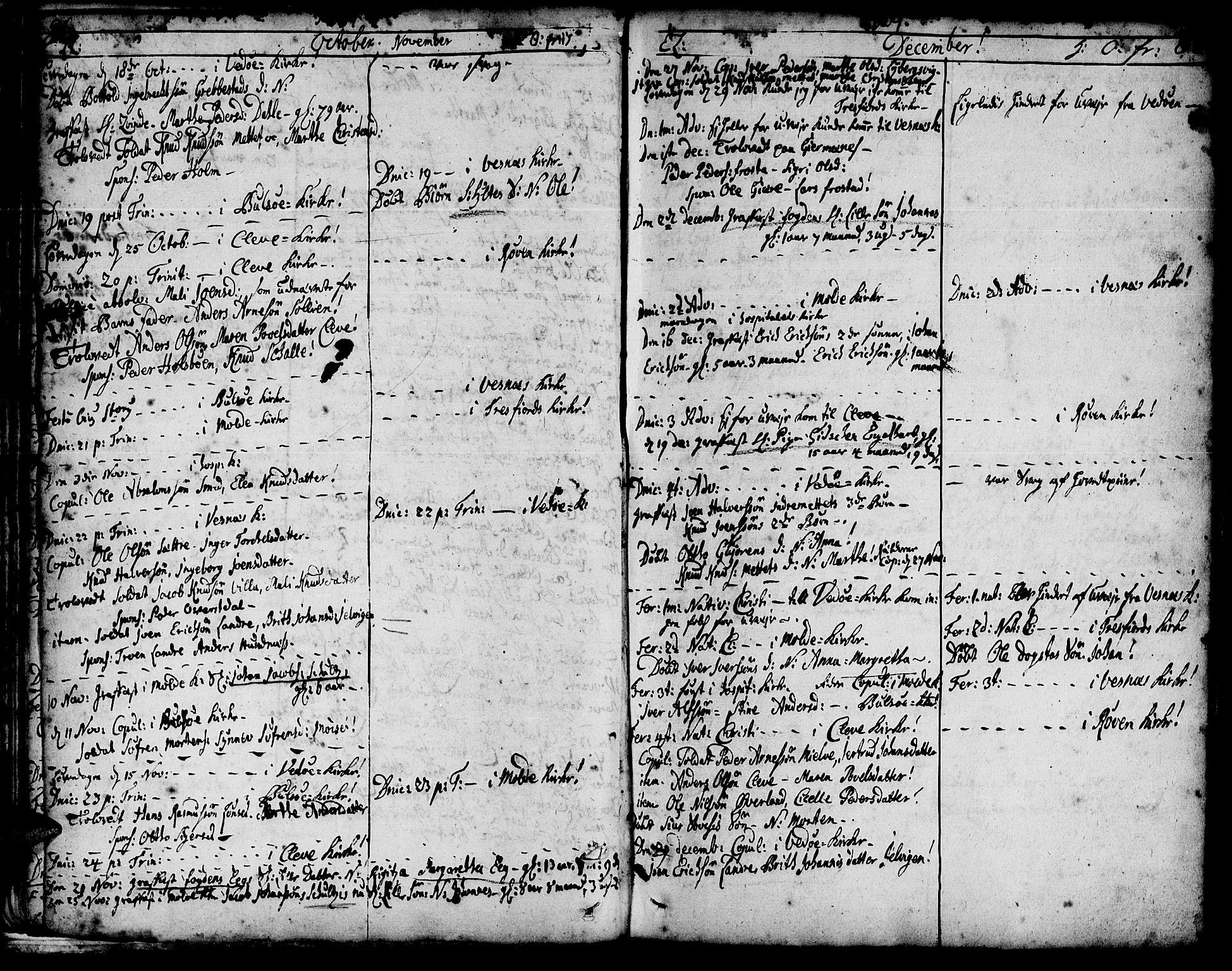 SAT, Ministerialprotokoller, klokkerbøker og fødselsregistre - Møre og Romsdal, 547/L0599: Ministerialbok nr. 547A01, 1721-1764, s. 88-89