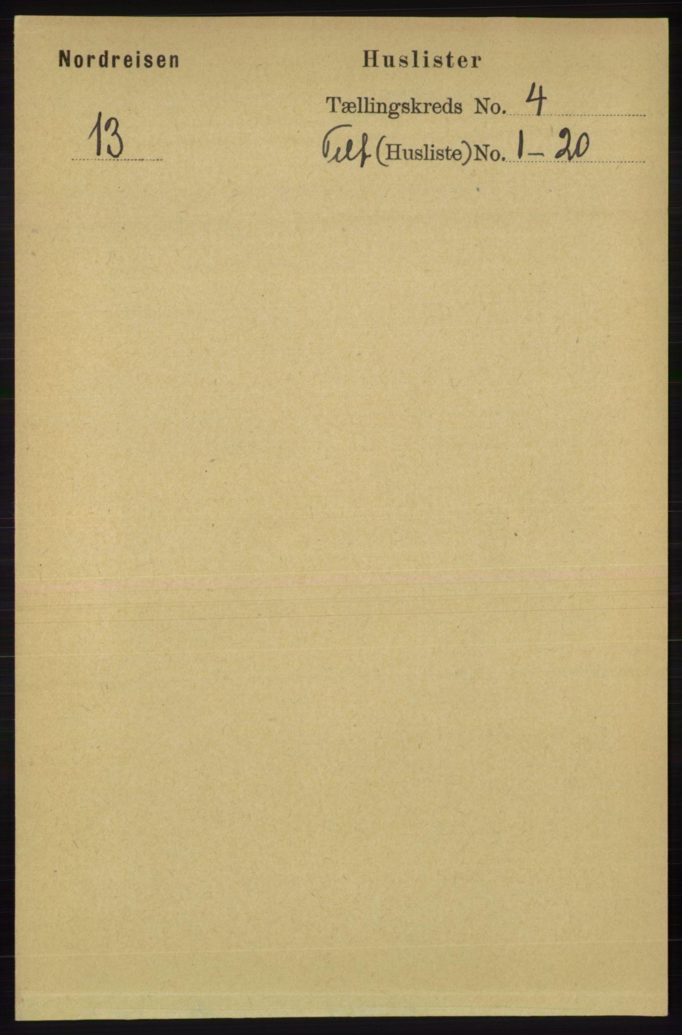 RA, Folketelling 1891 for 1942 Nordreisa herred, 1891, s. 1509