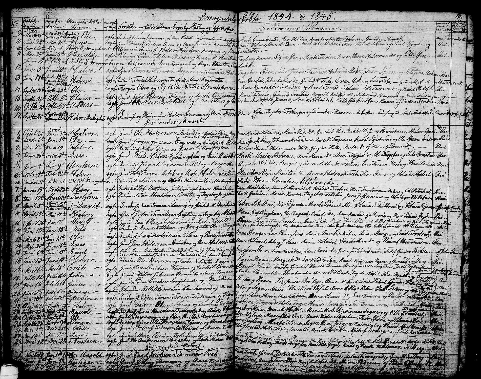 SAKO, Drangedal kirkebøker, G/Ga/L0001: Klokkerbok nr. I 1 /1, 1814-1856, s. 16
