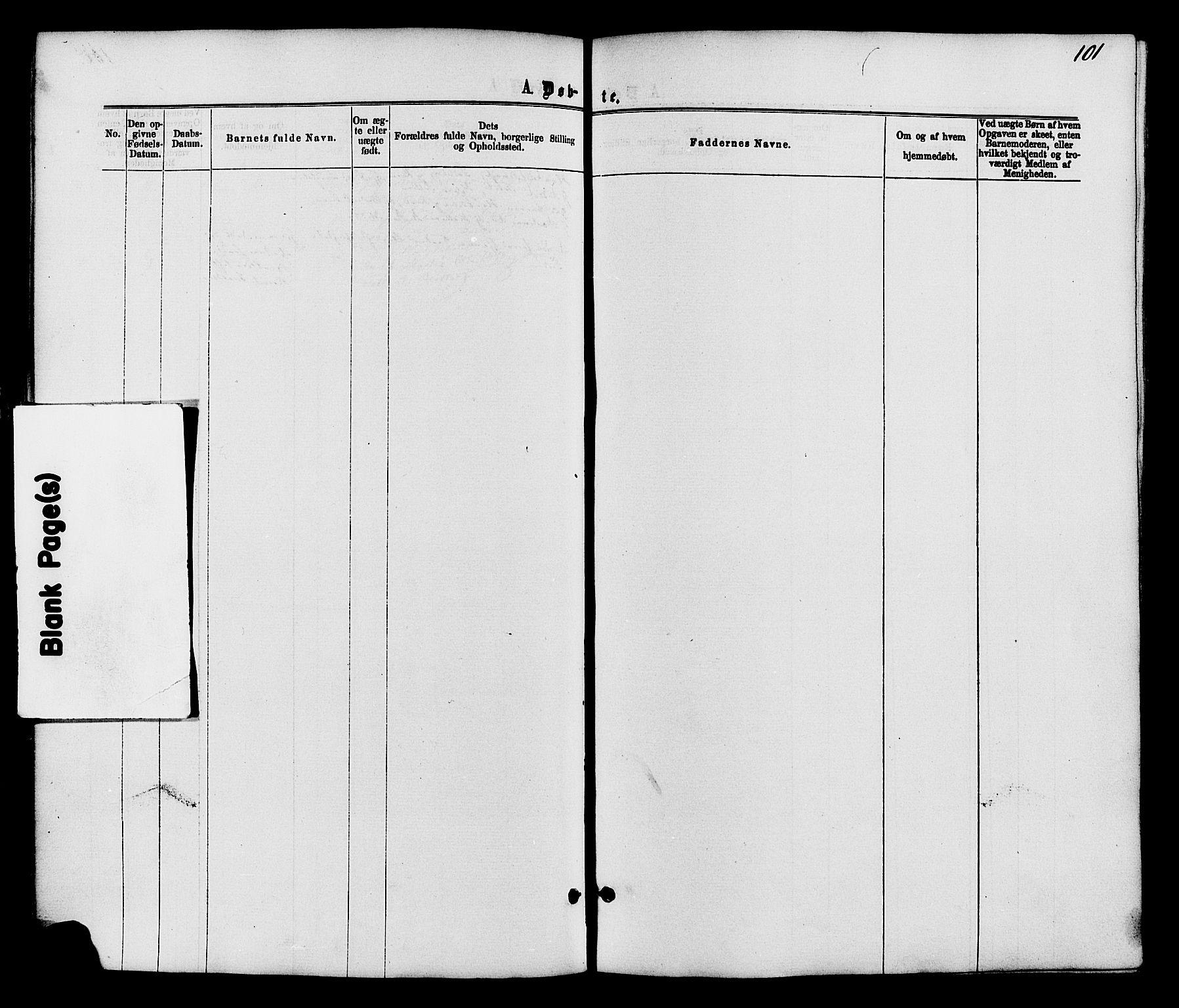SAH, Nordre Land prestekontor, Ministerialbok nr. 2, 1872-1881, s. 101
