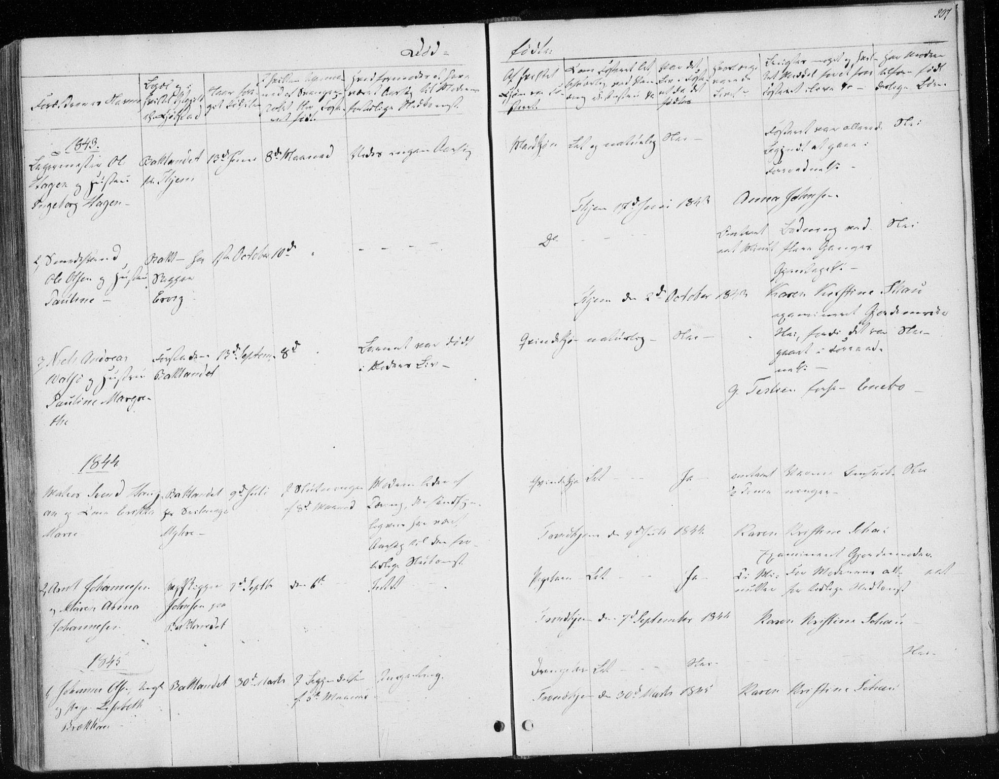 SAT, Ministerialprotokoller, klokkerbøker og fødselsregistre - Sør-Trøndelag, 604/L0183: Ministerialbok nr. 604A04, 1841-1850, s. 207