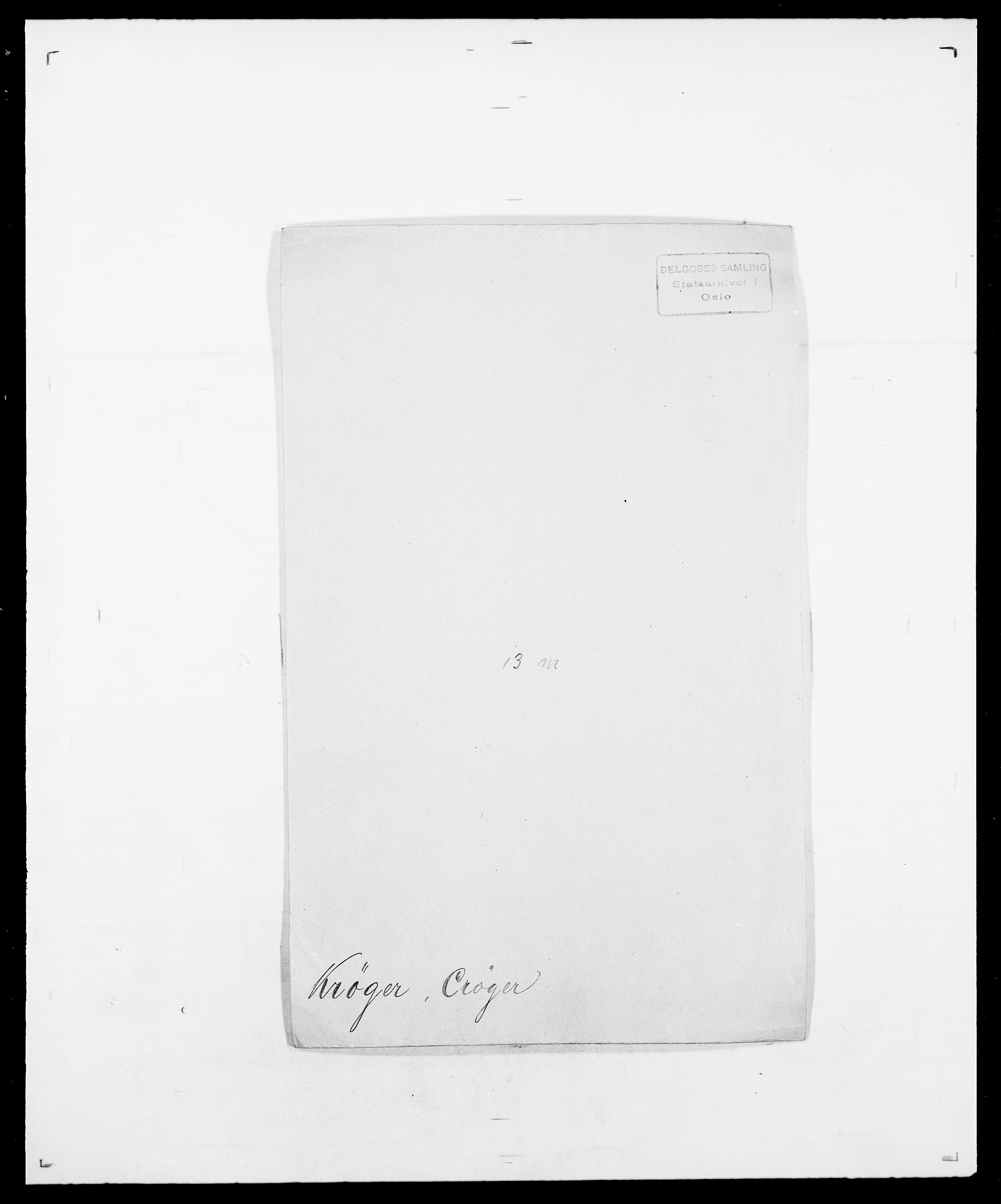 SAO, Delgobe, Charles Antoine - samling, D/Da/L0022: Krog - Lasteen, s. 195