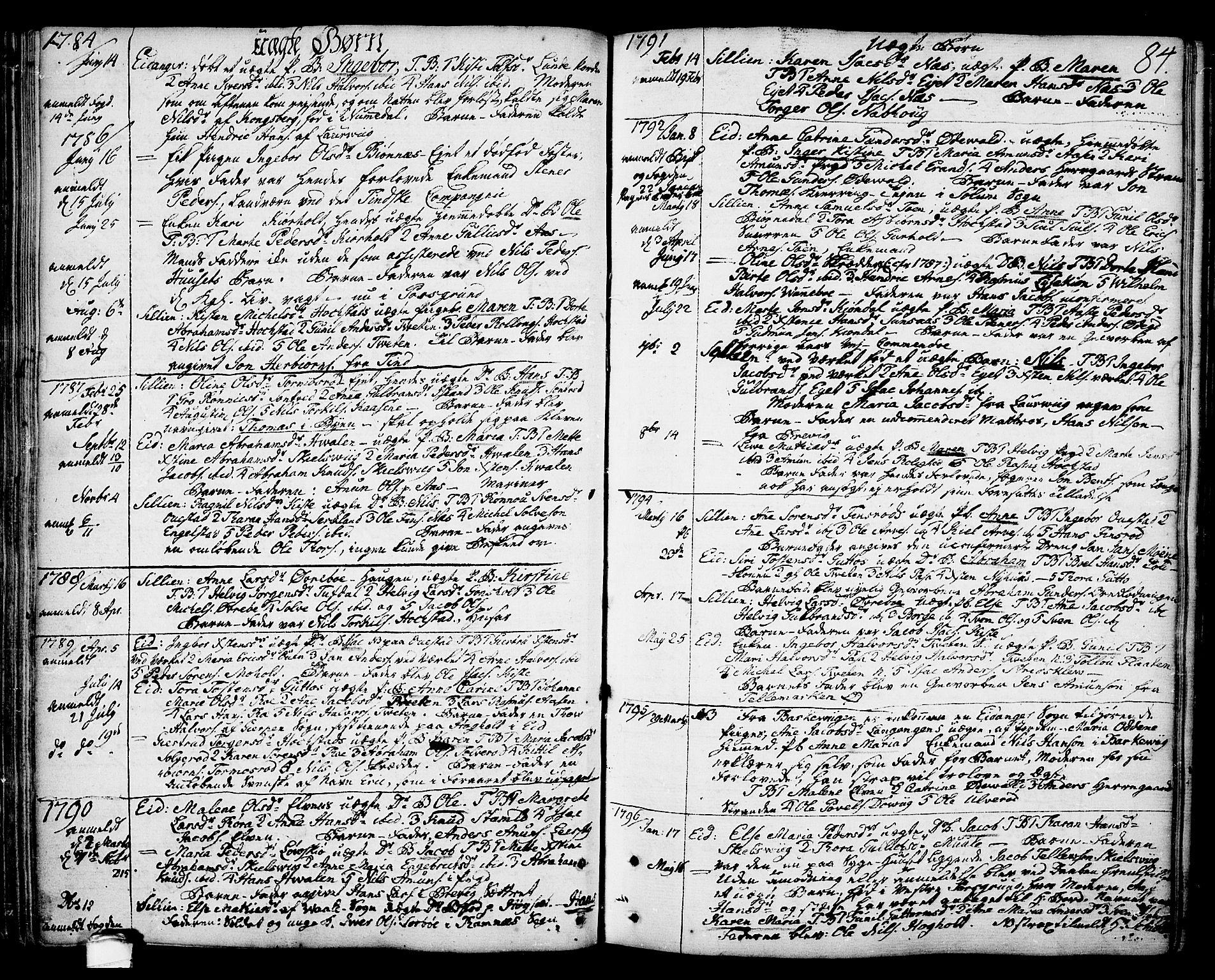 SAKO, Eidanger kirkebøker, F/Fa/L0006: Ministerialbok nr. 6, 1764-1814, s. 84