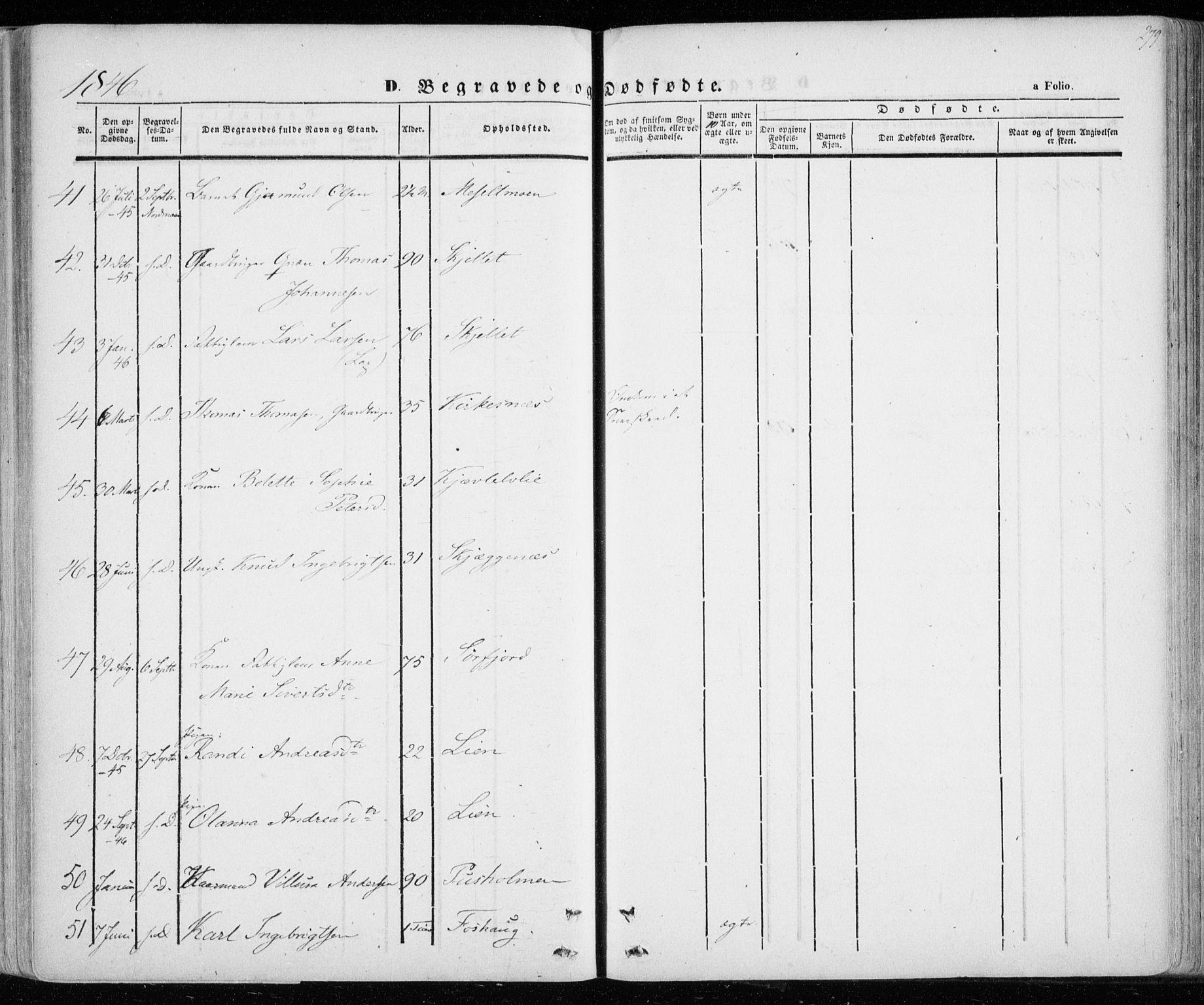 SATØ, Lenvik sokneprestembete, H/Ha: Ministerialbok nr. 6, 1845-1854, s. 279
