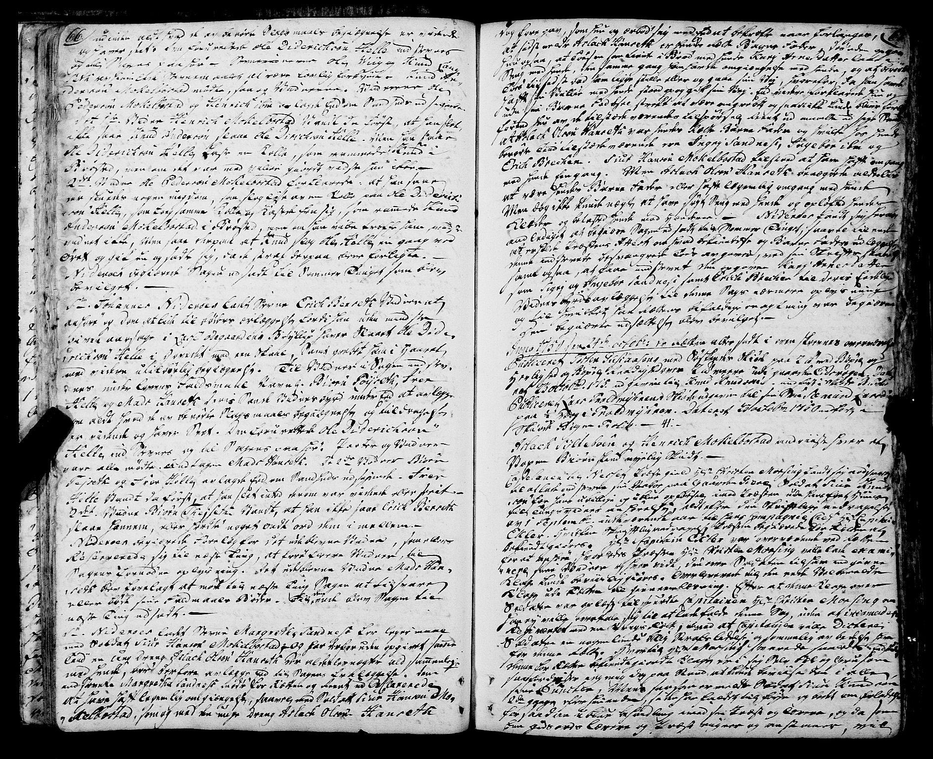 SAT, Romsdal sorenskriveri, 1/1A/L0013: Tingbok, 1749-1757, s. 66-67