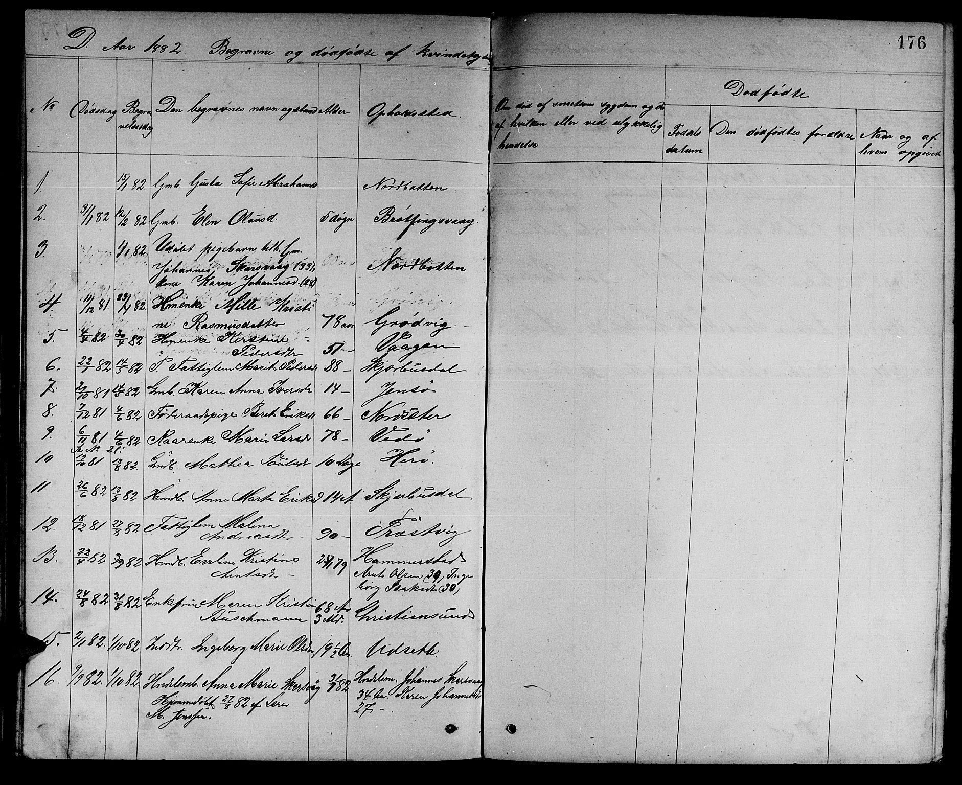 SAT, Ministerialprotokoller, klokkerbøker og fødselsregistre - Sør-Trøndelag, 637/L0561: Klokkerbok nr. 637C02, 1873-1882, s. 176