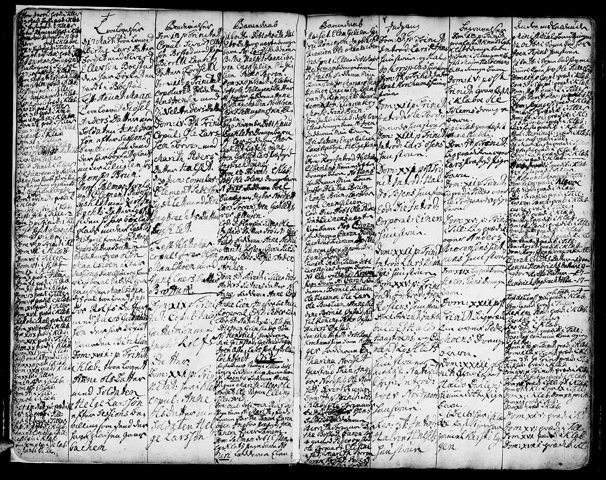 SAT, Ministerialprotokoller, klokkerbøker og fødselsregistre - Sør-Trøndelag, 618/L0437: Ministerialbok nr. 618A02, 1749-1782, s. 4