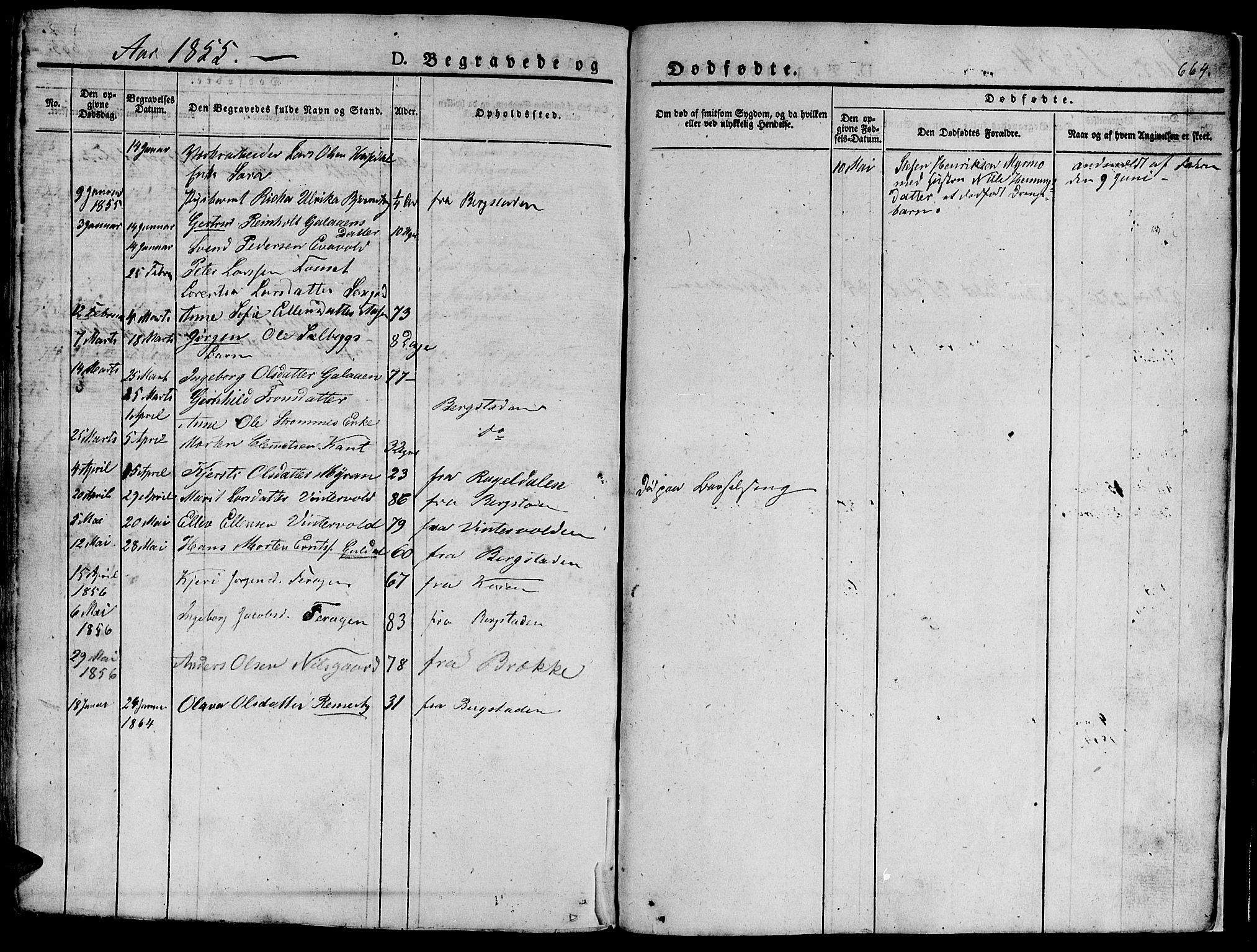 SAT, Ministerialprotokoller, klokkerbøker og fødselsregistre - Sør-Trøndelag, 681/L0939: Klokkerbok nr. 681C03, 1829-1855, s. 664