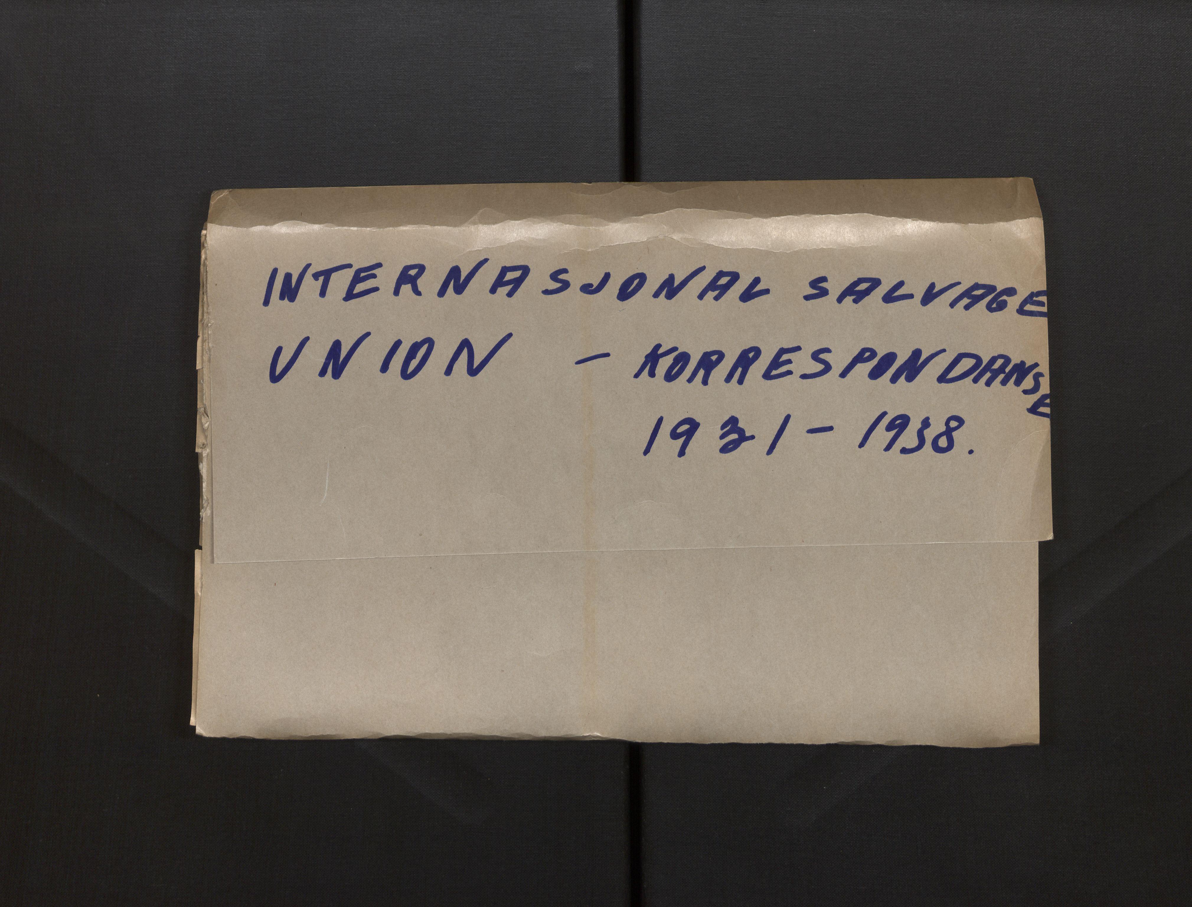 SAB, Norsk Bjergningskompani, 7/L0022: International Salvage Union, 1931-1964, s. 1