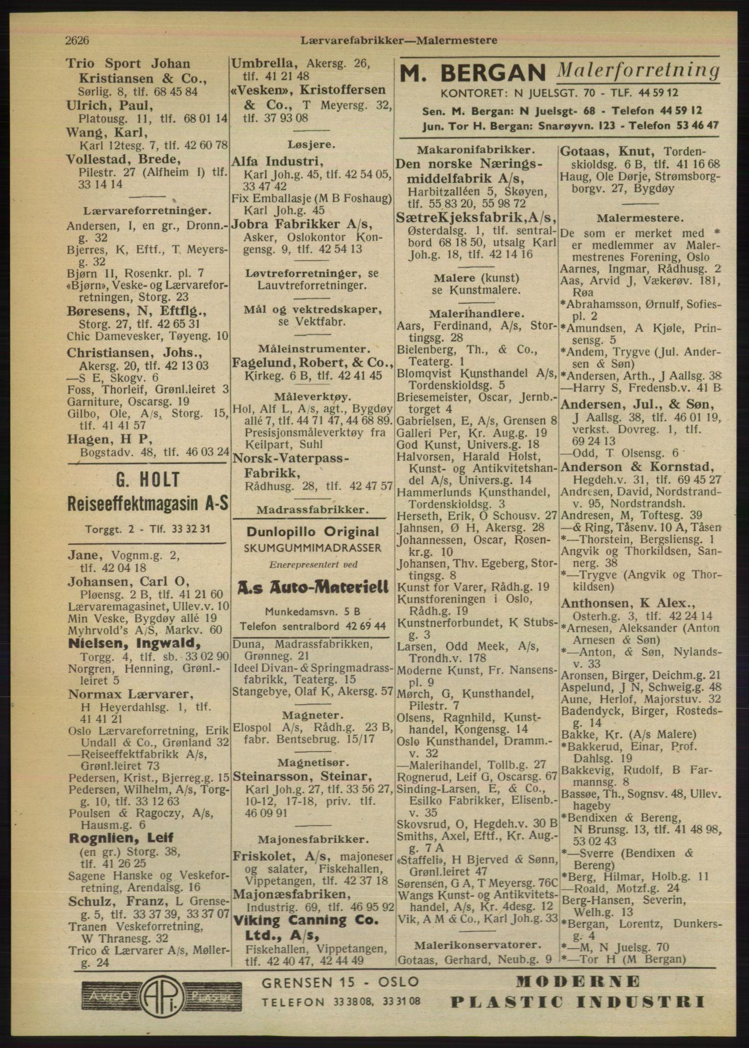 RA, Oslo adressebok (publikasjon)*, 1950, s. 2626