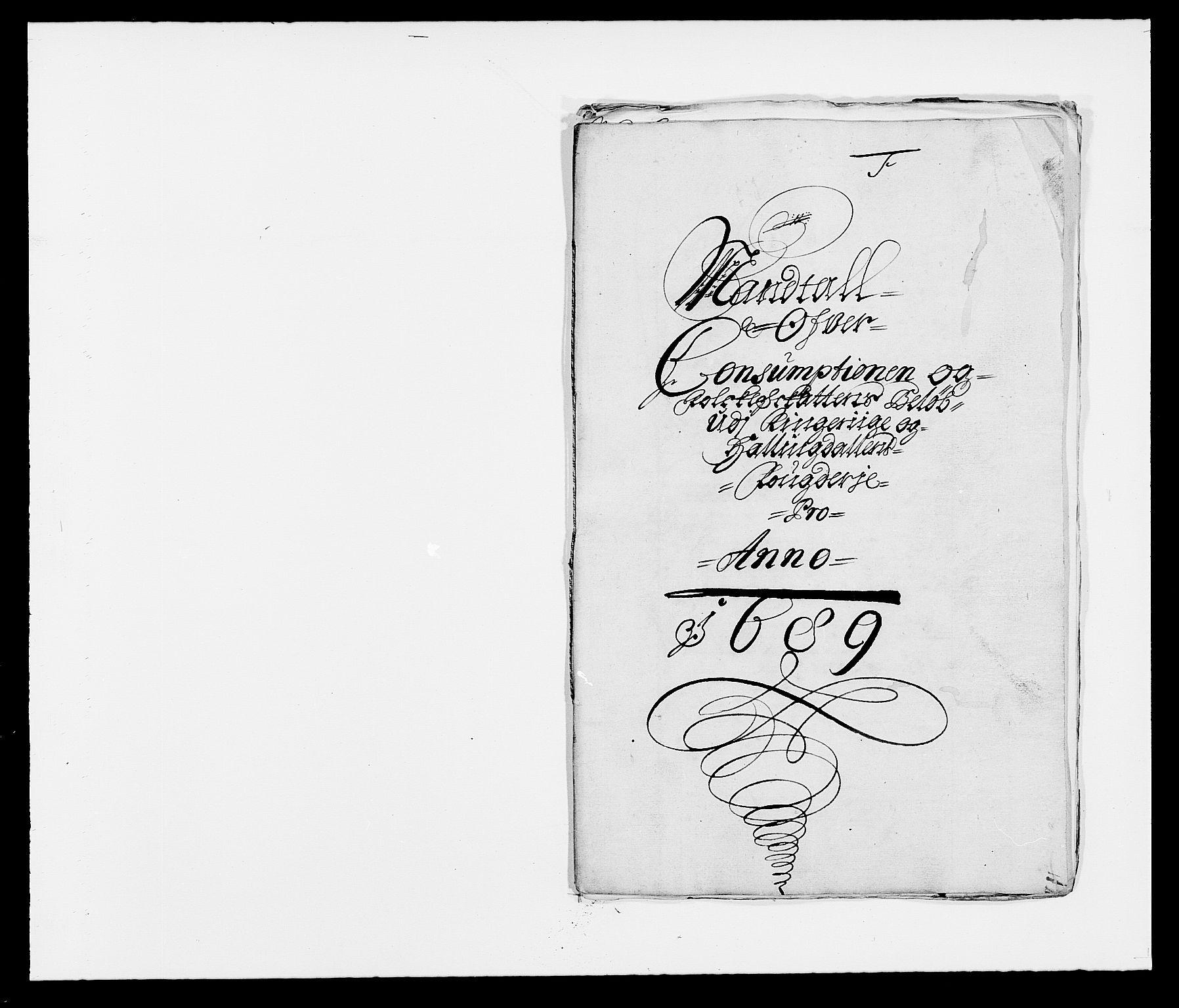 RA, Rentekammeret inntil 1814, Reviderte regnskaper, Fogderegnskap, R21/L1447: Fogderegnskap Ringerike og Hallingdal, 1687-1689, s. 314