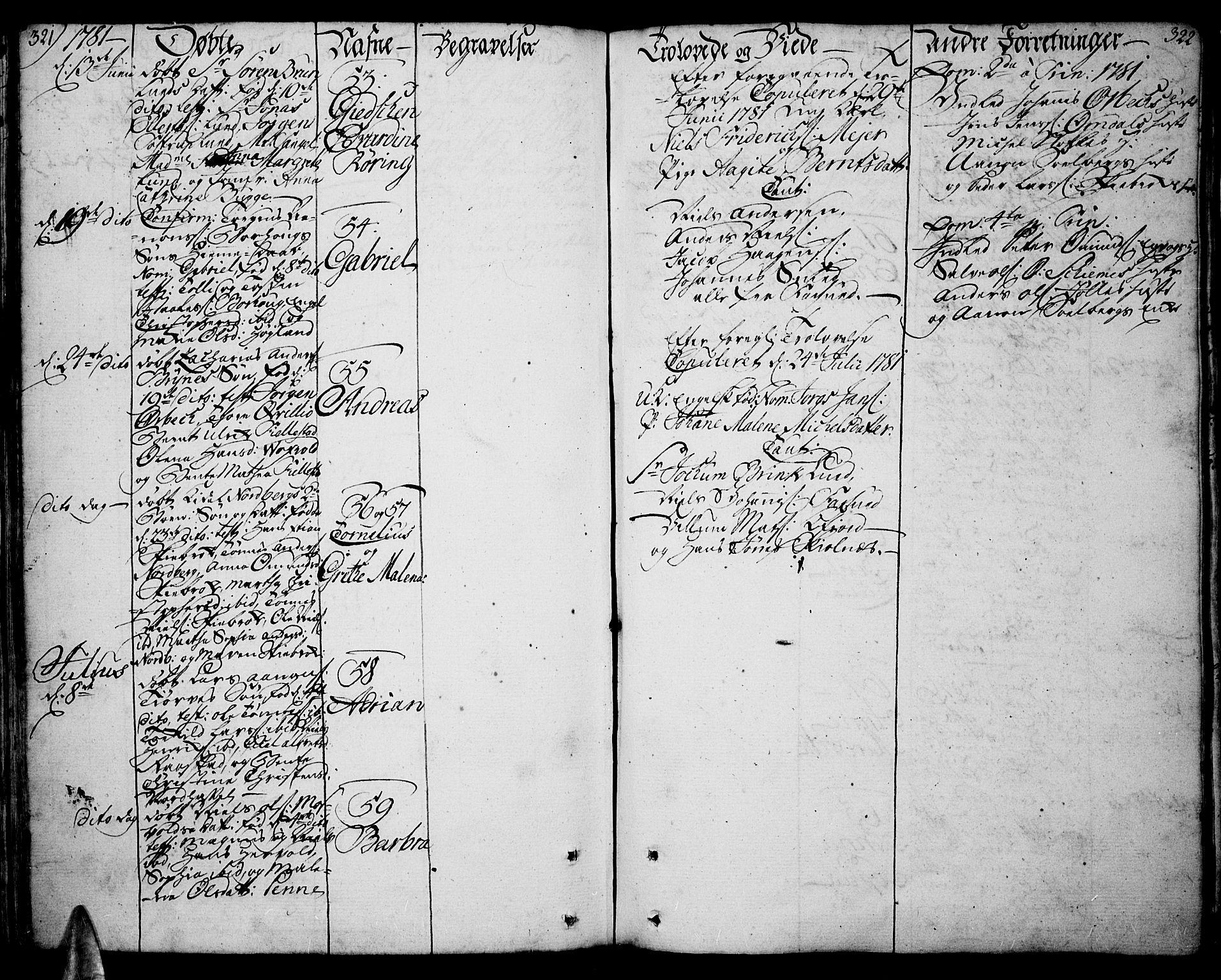 SAK, Lista sokneprestkontor, F/Fa/L0004: Ministerialbok nr. A 4, 1768-1794, s. 321-322
