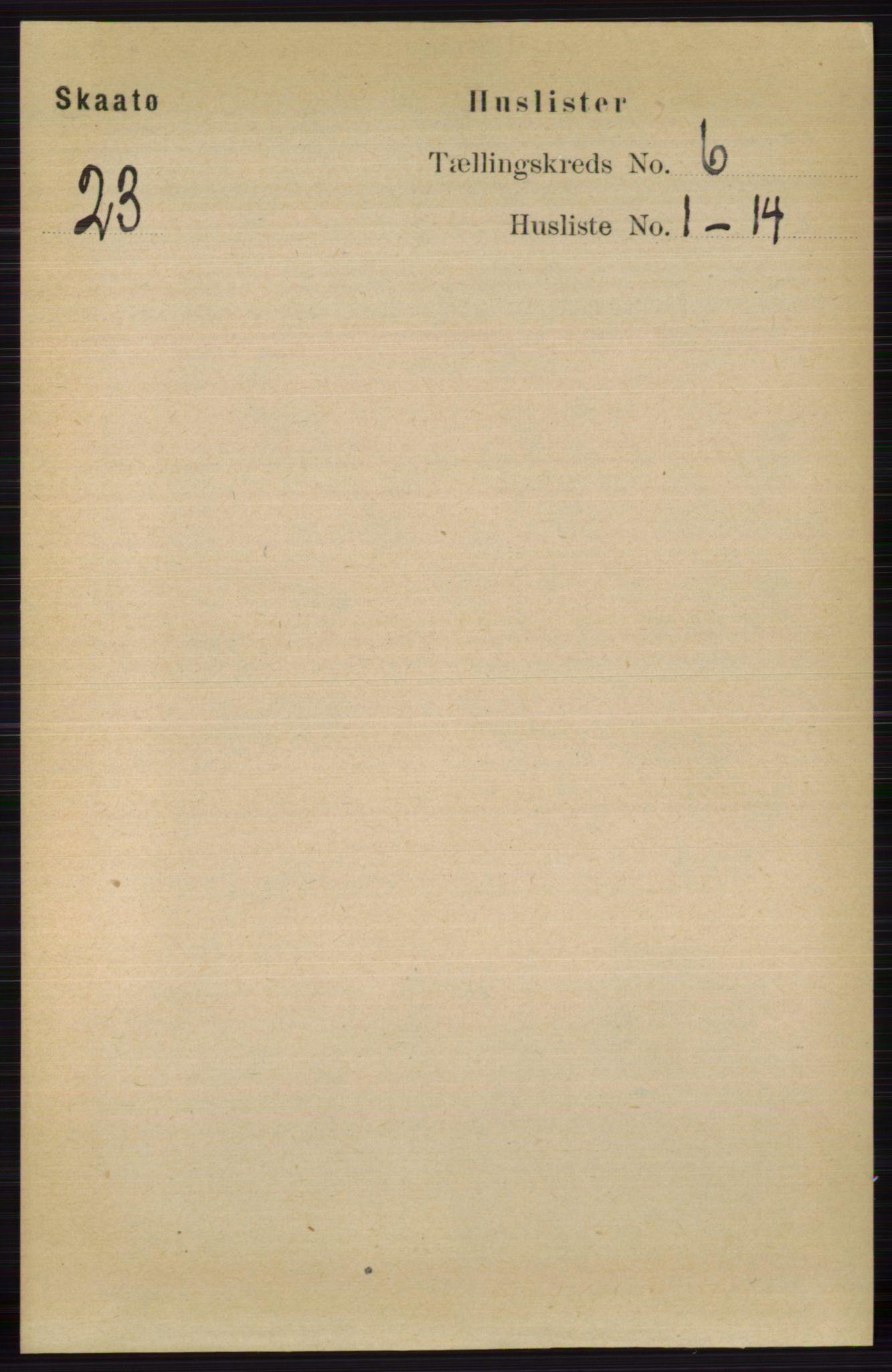 RA, Folketelling 1891 for 0815 Skåtøy herred, 1891, s. 2879