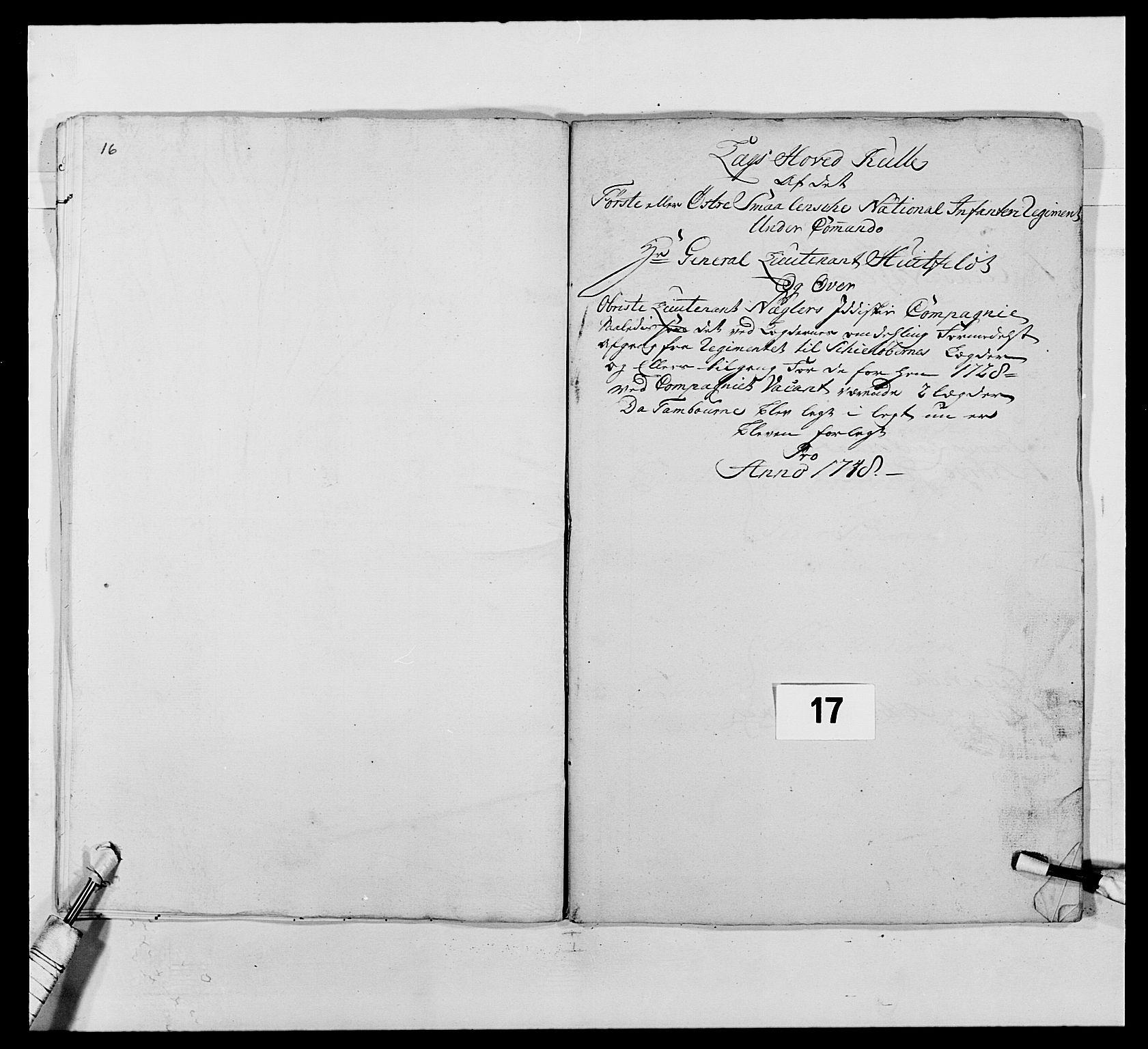 RA, Kommanderende general (KG I) med Det norske krigsdirektorium, E/Ea/L0495: 1. Smålenske regiment, 1732-1763, s. 204