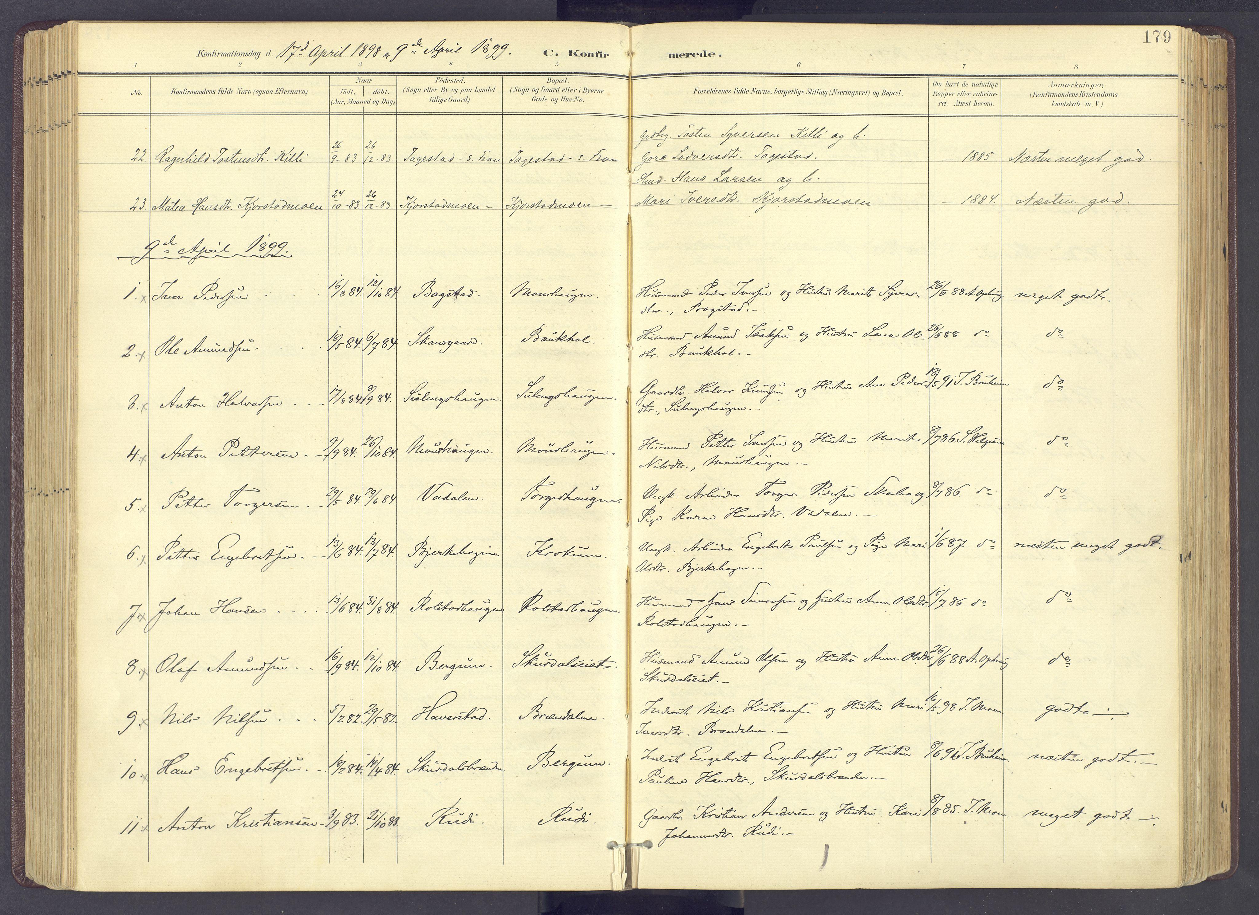 SAH, Sør-Fron prestekontor, H/Ha/Haa/L0004: Ministerialbok nr. 4, 1898-1919, s. 179