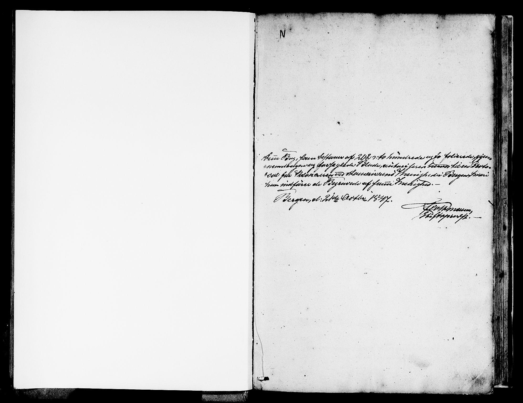 SAB, Domkirken Sokneprestembete, H/Hab/L0038: Klokkerbok nr. E 2, 1847-1859
