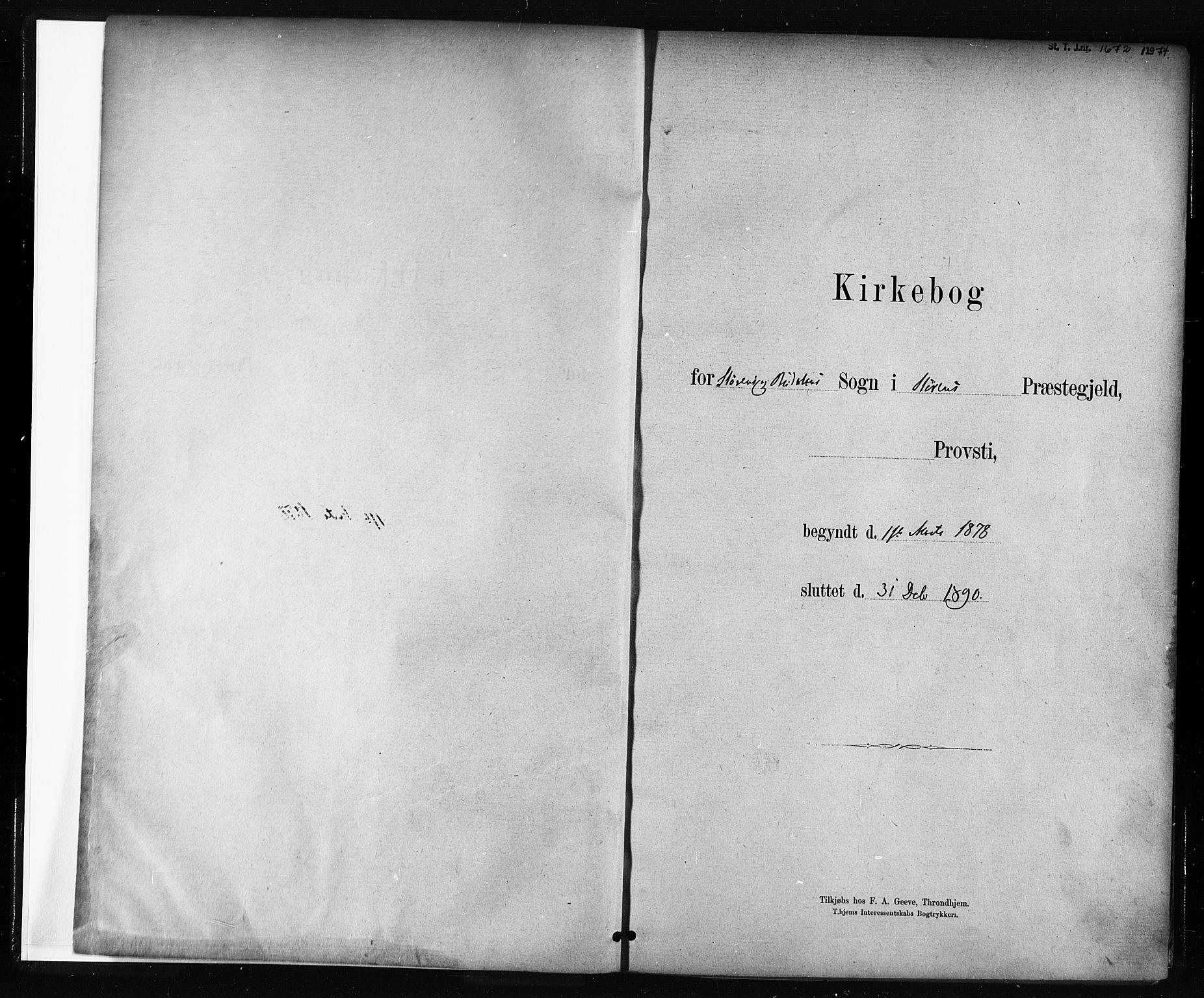 SAT, Ministerialprotokoller, klokkerbøker og fødselsregistre - Sør-Trøndelag, 687/L1002: Ministerialbok nr. 687A08, 1878-1890