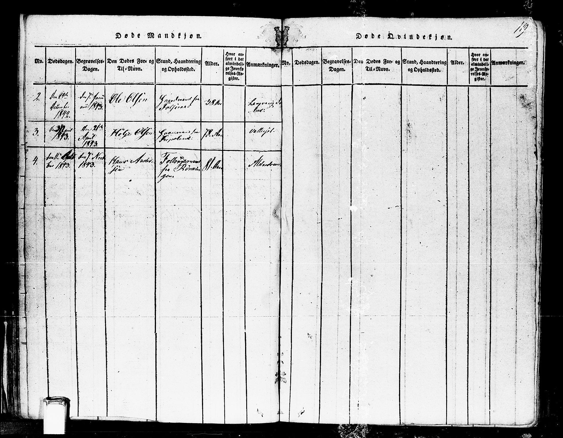 SAKO, Gransherad kirkebøker, F/Fa/L0001: Ministerialbok nr. I 1, 1815-1843, s. 119