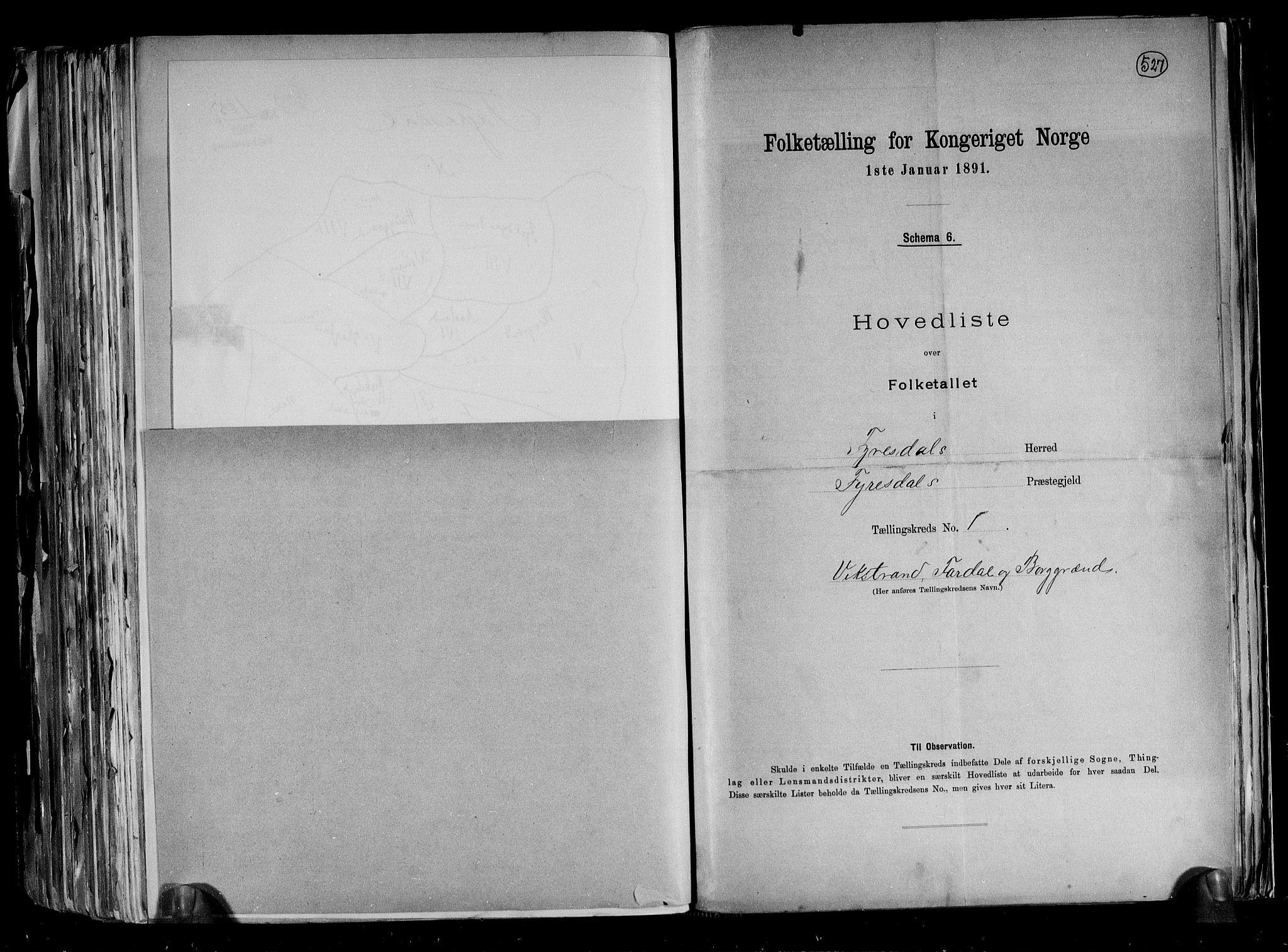 RA, Folketelling 1891 for 0831 Fyresdal herred, 1891, s. 6