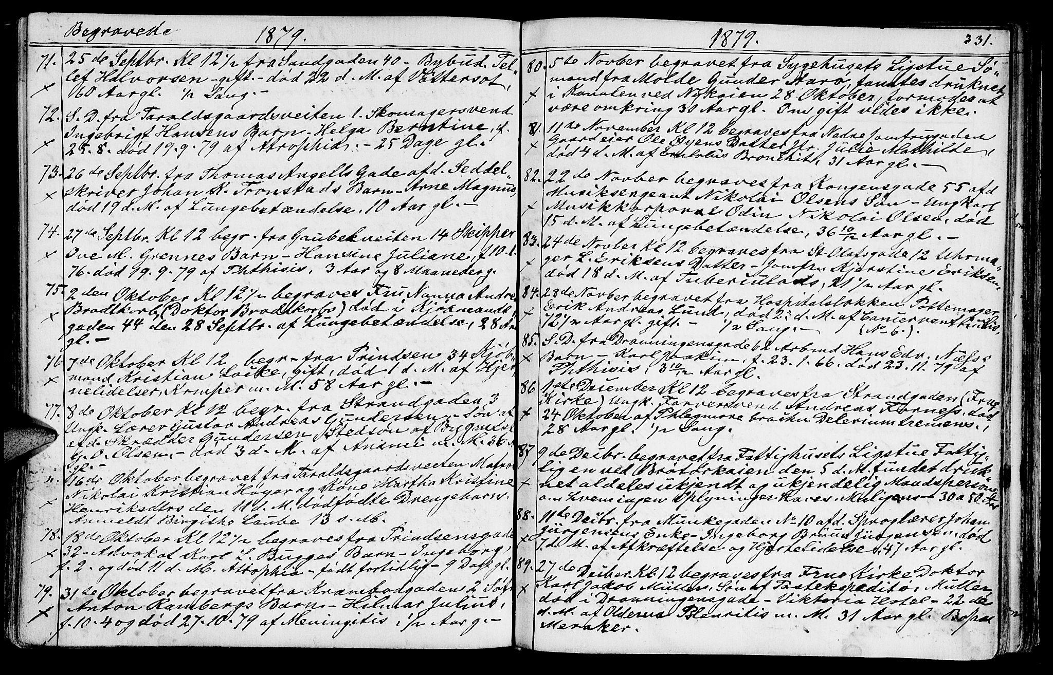 SAT, Ministerialprotokoller, klokkerbøker og fødselsregistre - Sør-Trøndelag, 602/L0142: Klokkerbok nr. 602C10, 1872-1894, s. 331