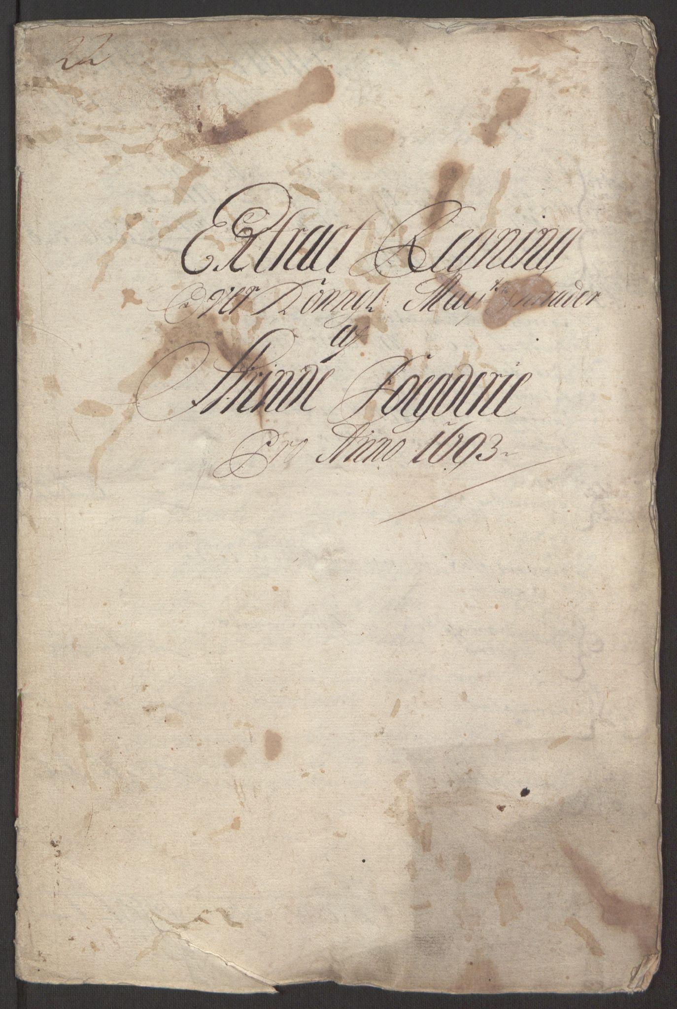 RA, Rentekammeret inntil 1814, Reviderte regnskaper, Fogderegnskap, R61/L4104: Fogderegnskap Strinda og Selbu, 1693-1694, s. 4