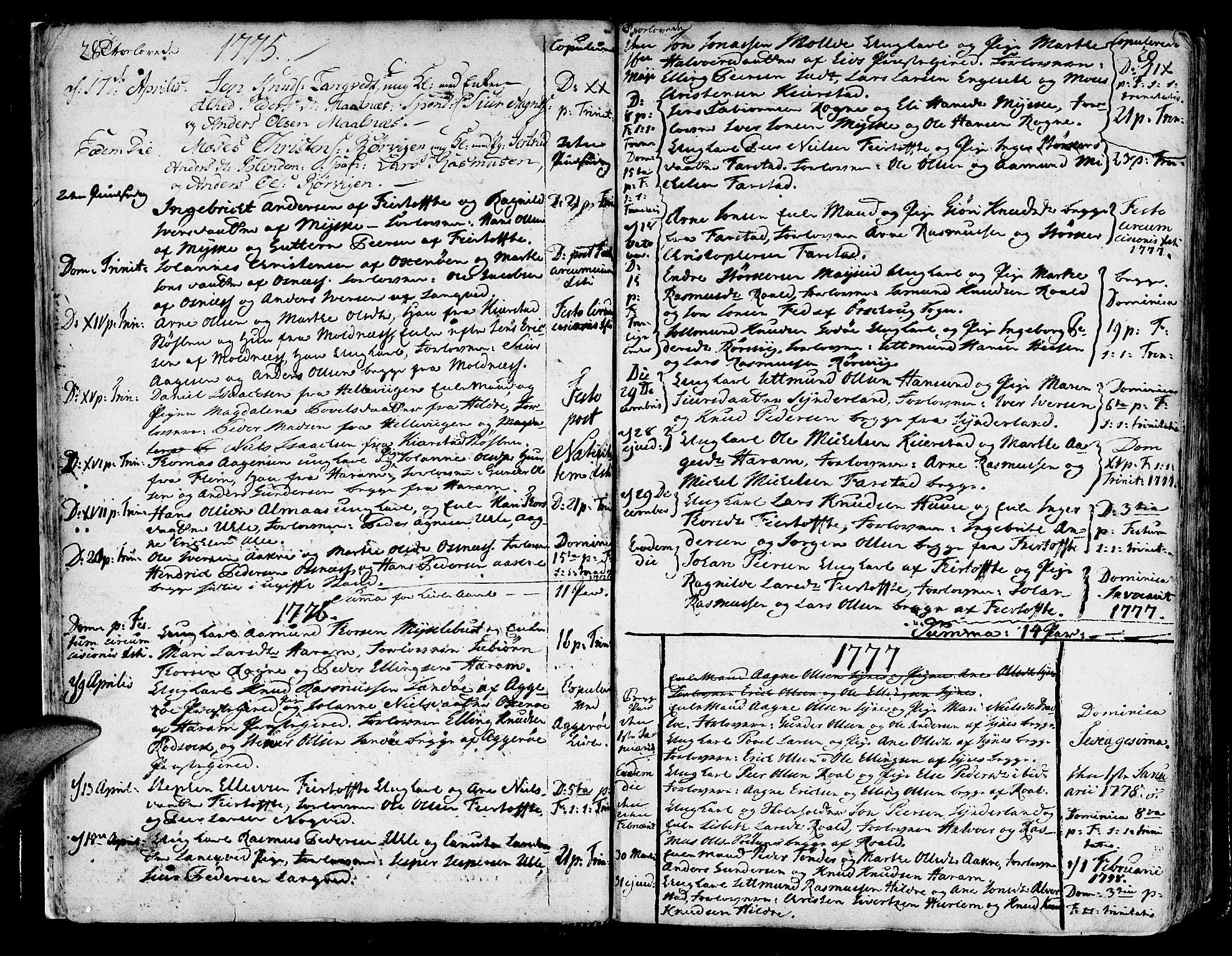 SAT, Ministerialprotokoller, klokkerbøker og fødselsregistre - Møre og Romsdal, 536/L0493: Ministerialbok nr. 536A02, 1739-1802, s. 28-29